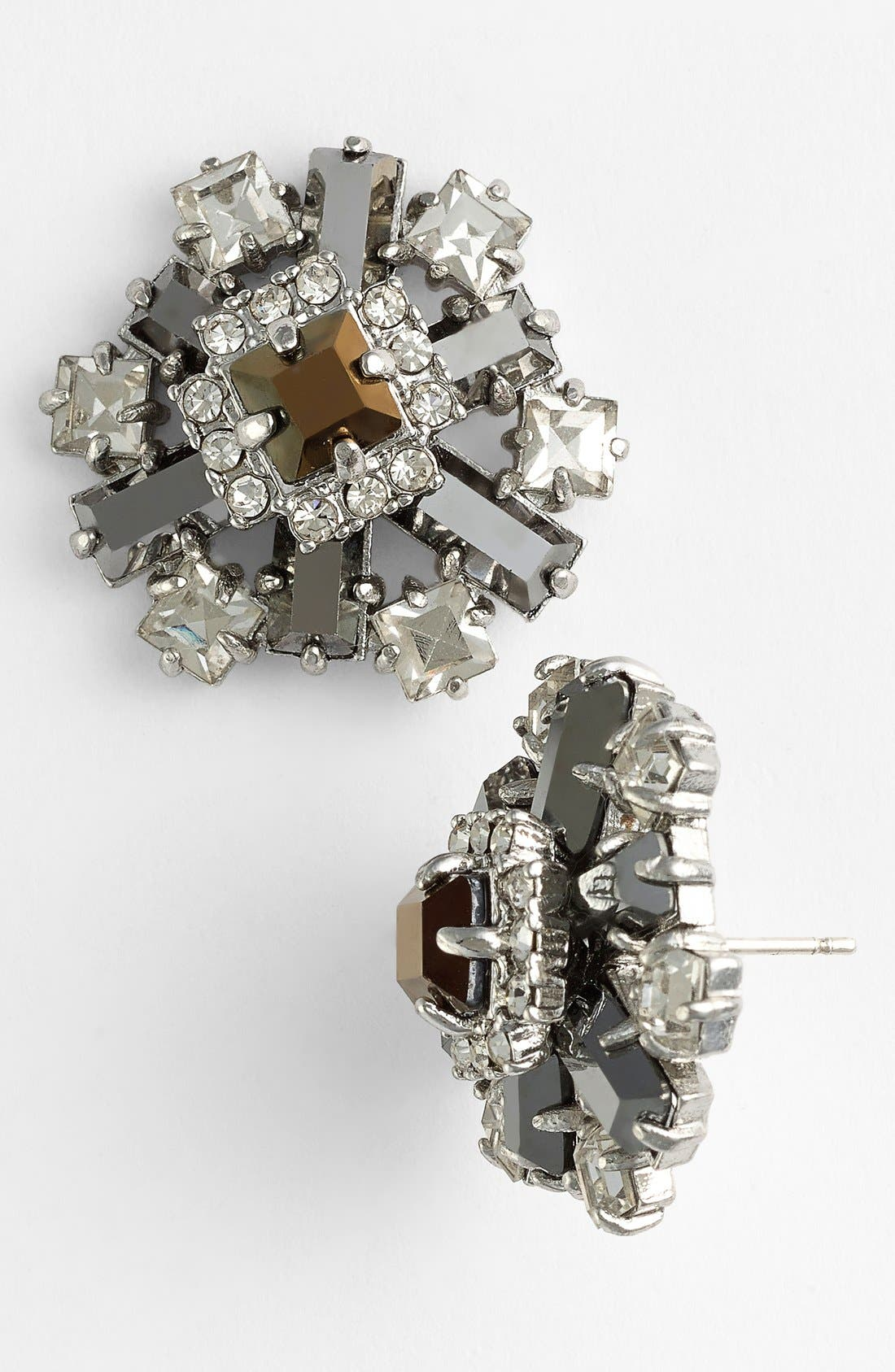 Main Image - kate spade new york 'space age floral' cluster stud earrings