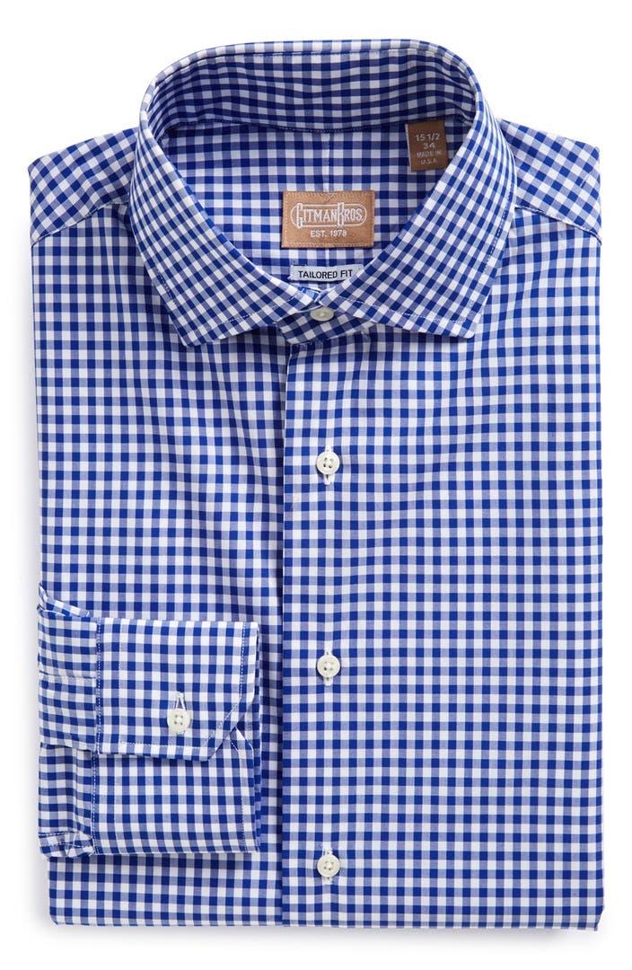 Gitman Tailored Fit Gingham Dress Shirt Nordstrom