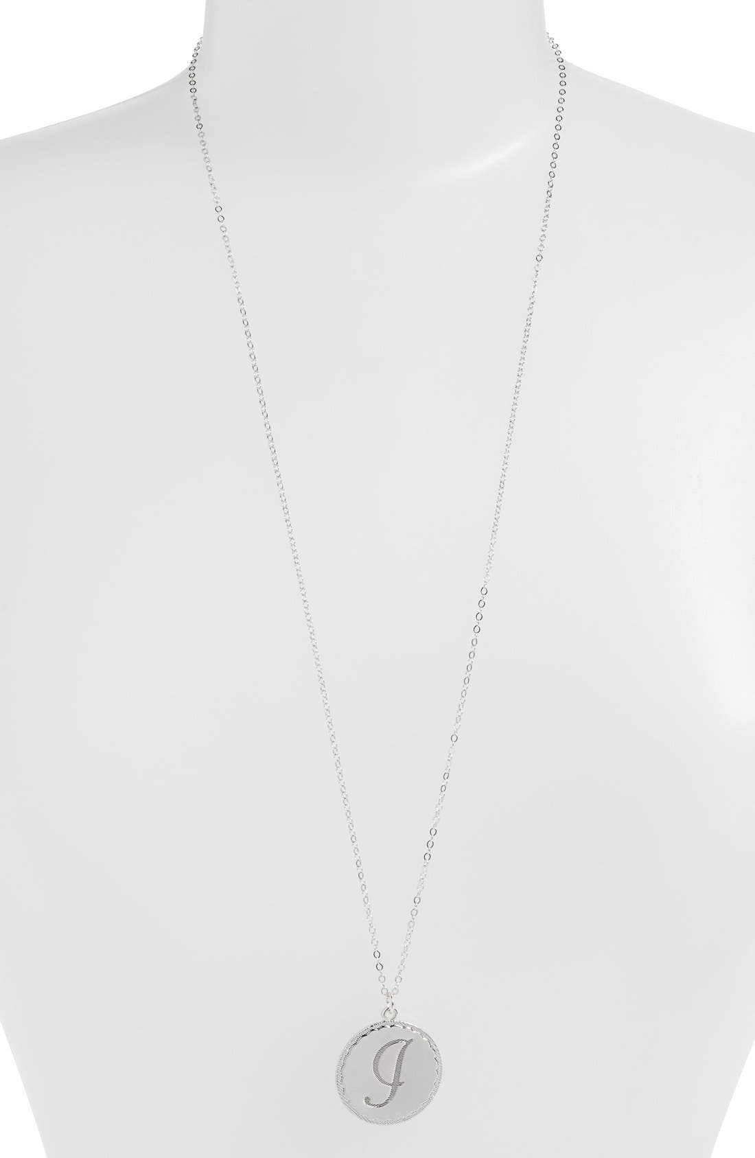 Moon and Lola 'Dalton' Long Initial Pendant Necklace