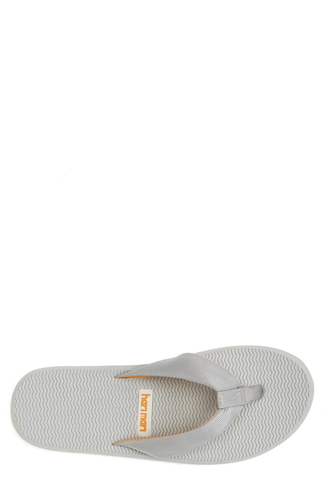 'Dunes' Flip Flop,                             Alternate thumbnail 3, color,                             Grey/ Blue/ Orange