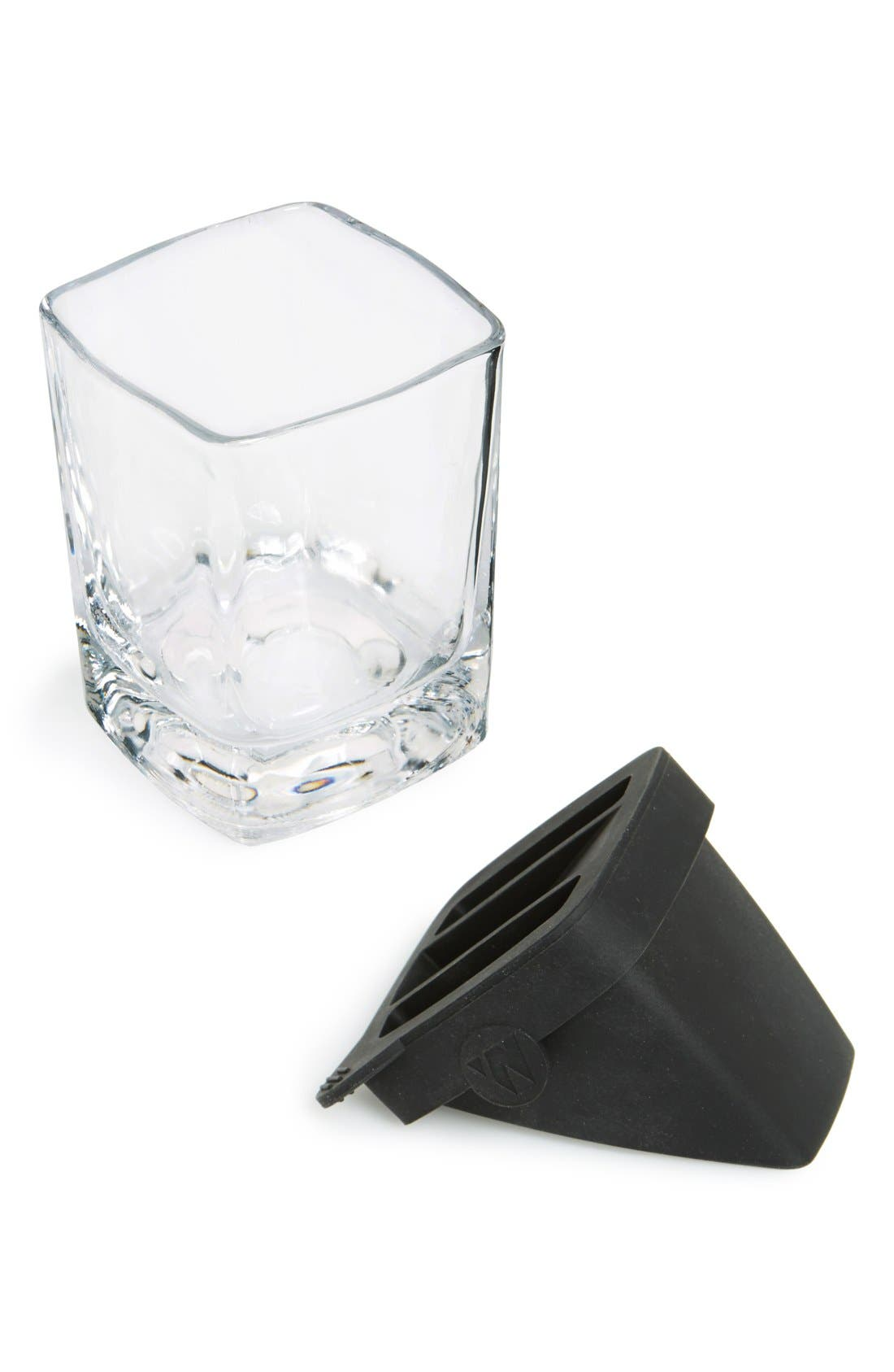 'Whiskey Wedge' Double Old-Fashioned Glass,                             Alternate thumbnail 2, color,                             Clear