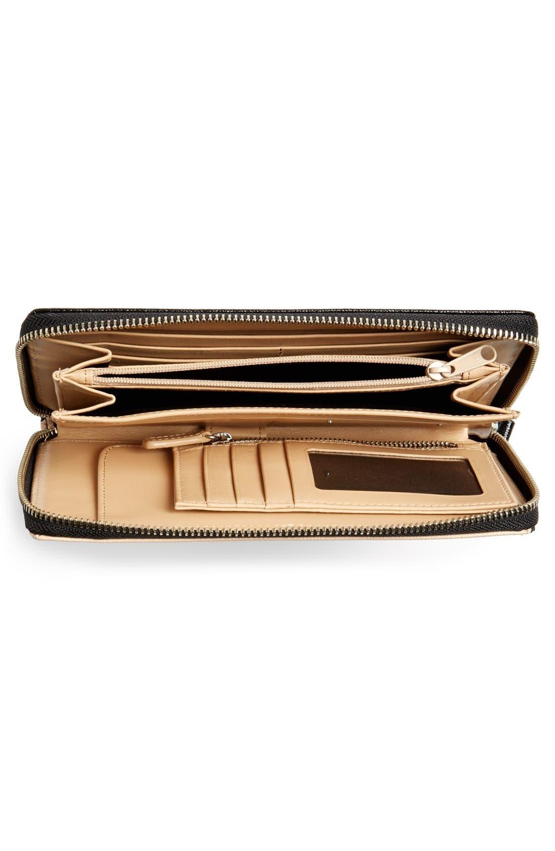 Alternate Image 2  - Halogen® Saffiano Leather Zip Around Wallet