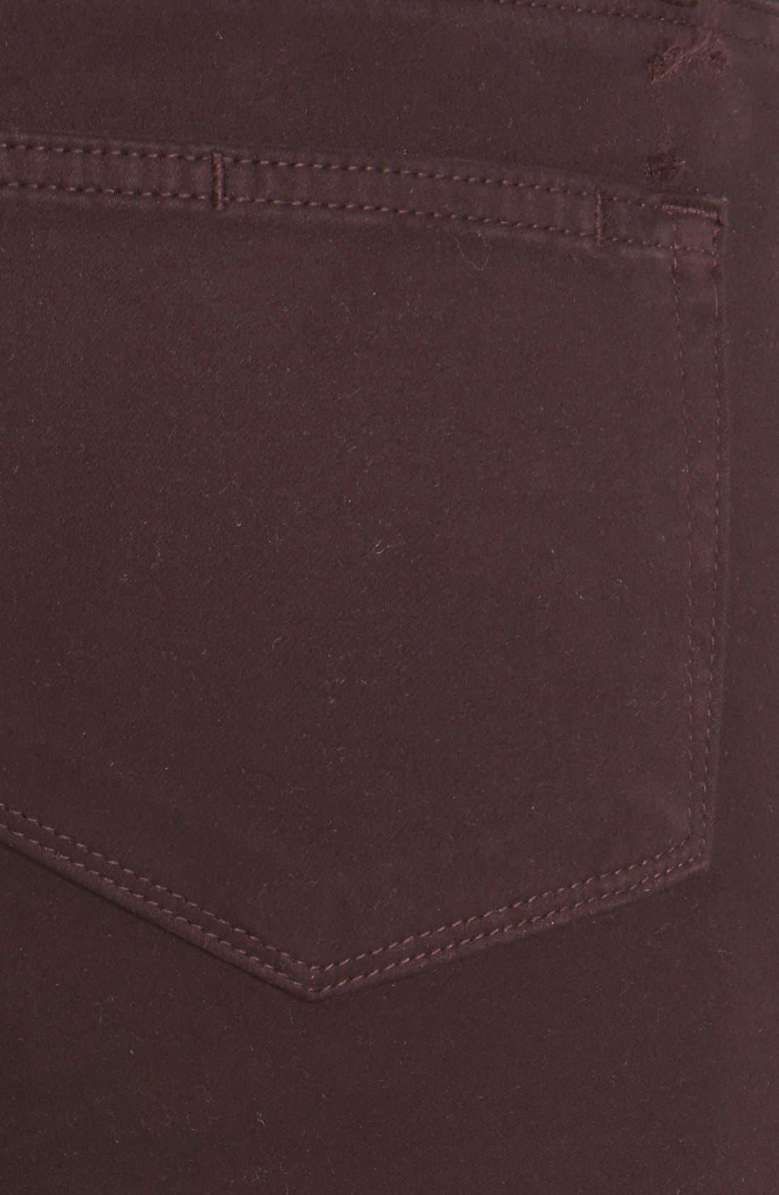 Alternate Image 3  - Paige Denim 'Verdugo' Ultra Skinny Jeans (Dark Wine)