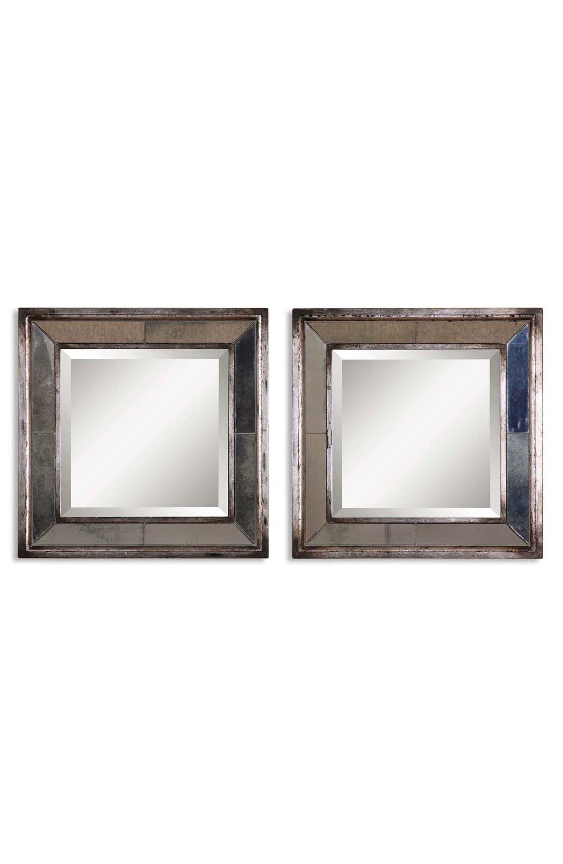'Davion' Square Mirror,                         Main,                         color, Silver