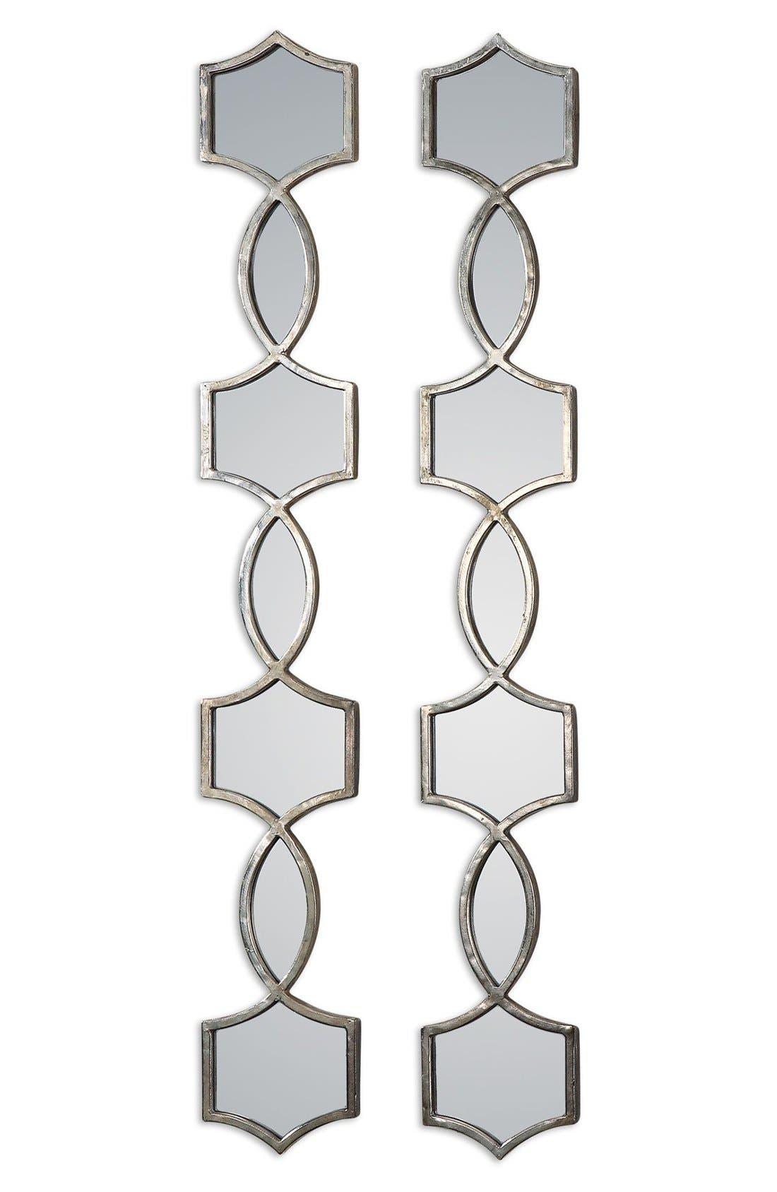 'Vizela' Metal Wall Mirrors,                         Main,                         color, Silver