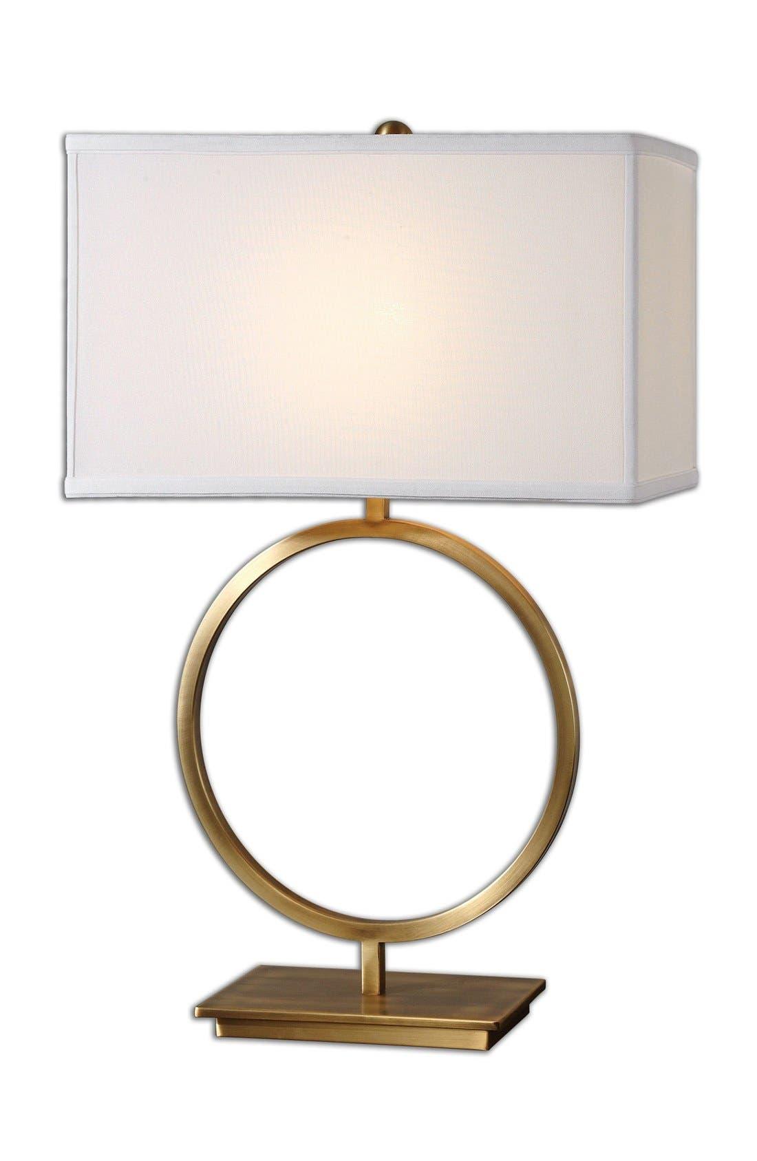 'Duara' Circle Table Lamp,                             Main thumbnail 1, color,                             Gold