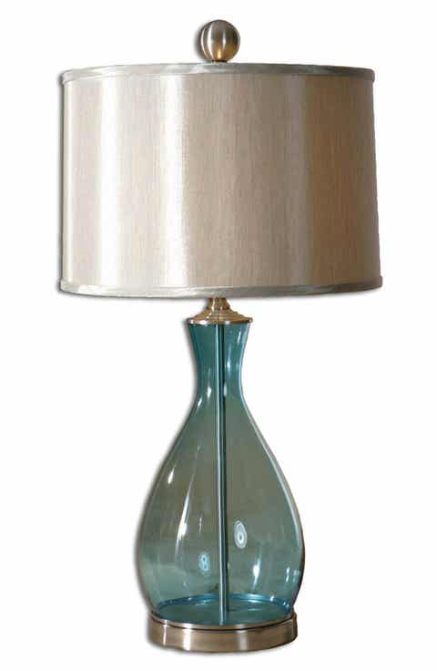 Table lamps lighting lamps fans nordstrom uttermost meena blue blown glass table lamp mozeypictures Choice Image