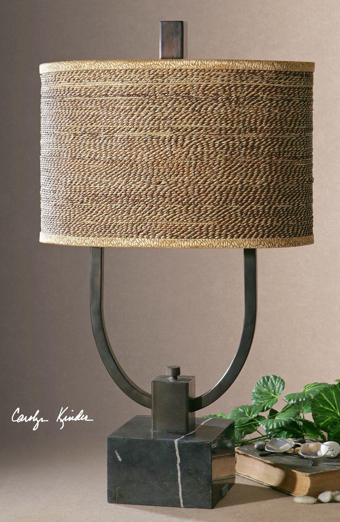 'Stabina' Metal Table Lamp,                             Alternate thumbnail 2, color,                             Brown