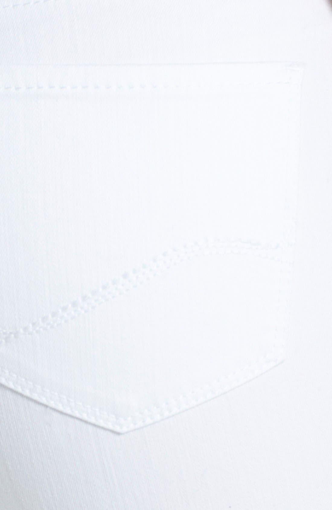Alternate Image 3  - NYDJ 'Marilyn' Stretch Straight Leg Jeans (Optic White) (Regular & Petite)