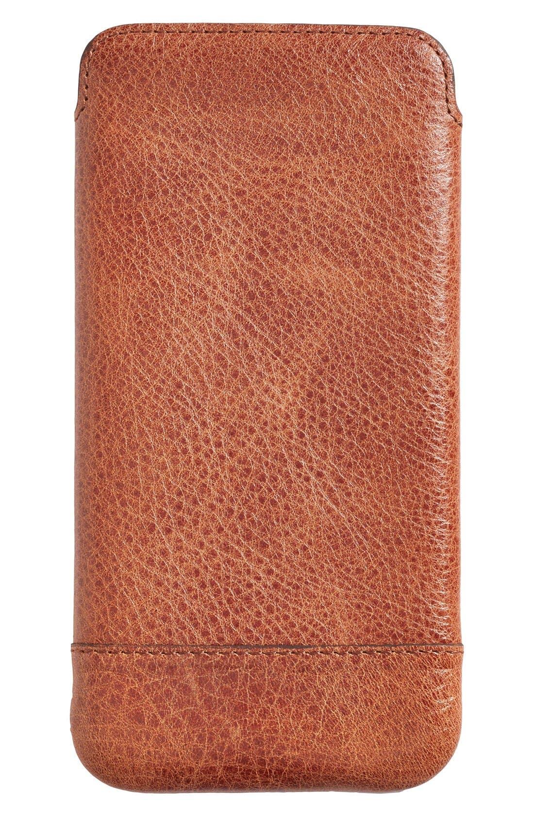 Heritage - Ultra Slim Leather iPhone 6 Plus/6s Plus Pouch,                             Alternate thumbnail 2, color,                             Cognac