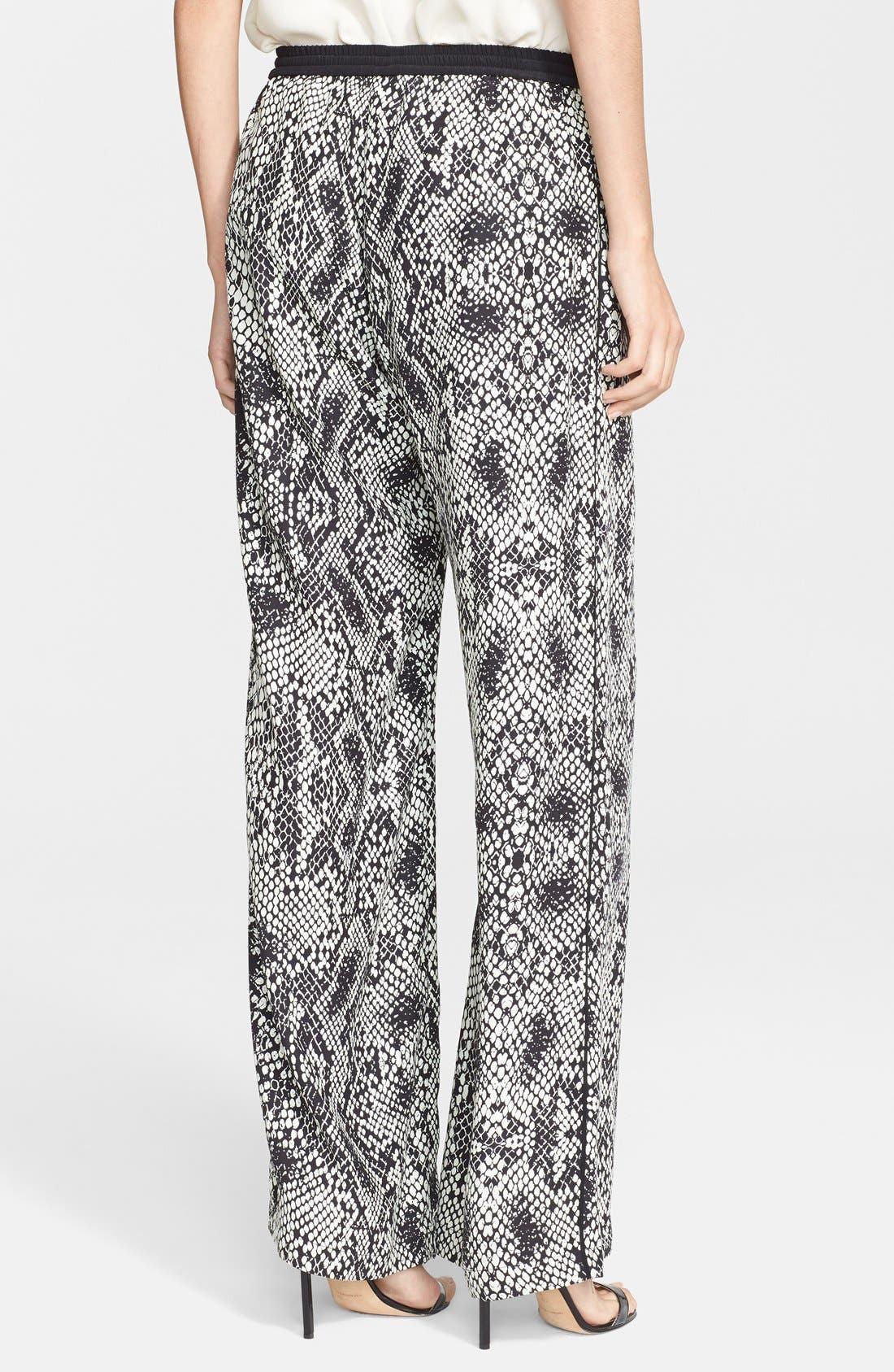 Alternate Image 2  - Parker 'Nile' Print Wide Leg Silk Pants