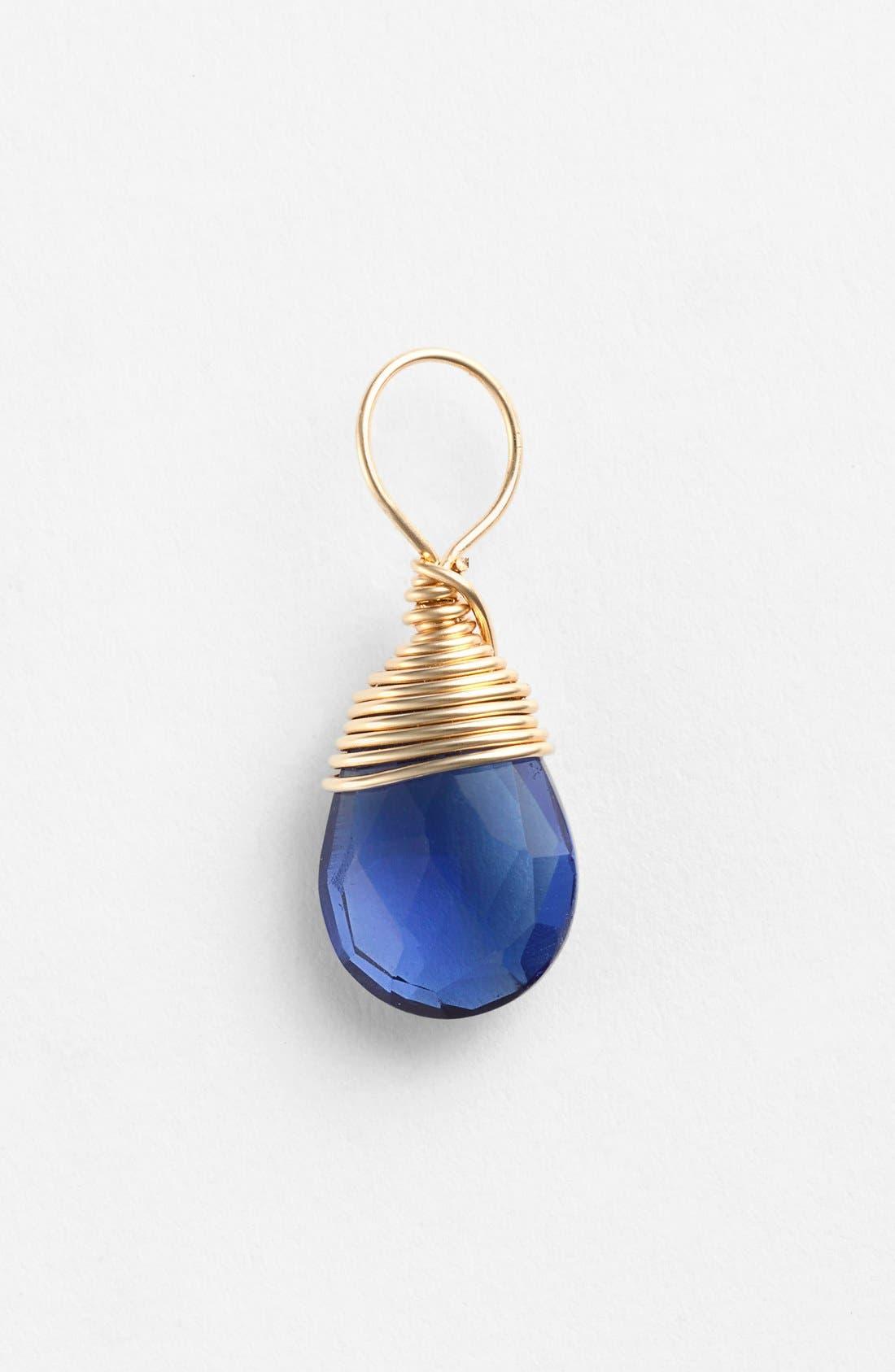Main Image - Nashelle 14k-Gold Fill & Semiprecious Stone Charm