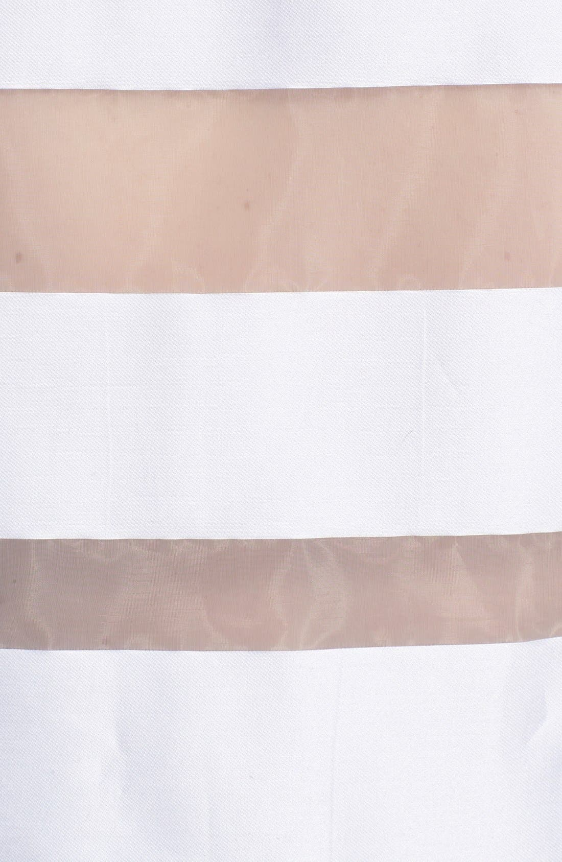 Alternate Image 3  - Milly Sheer Stripe Fil Coupe Crop Top