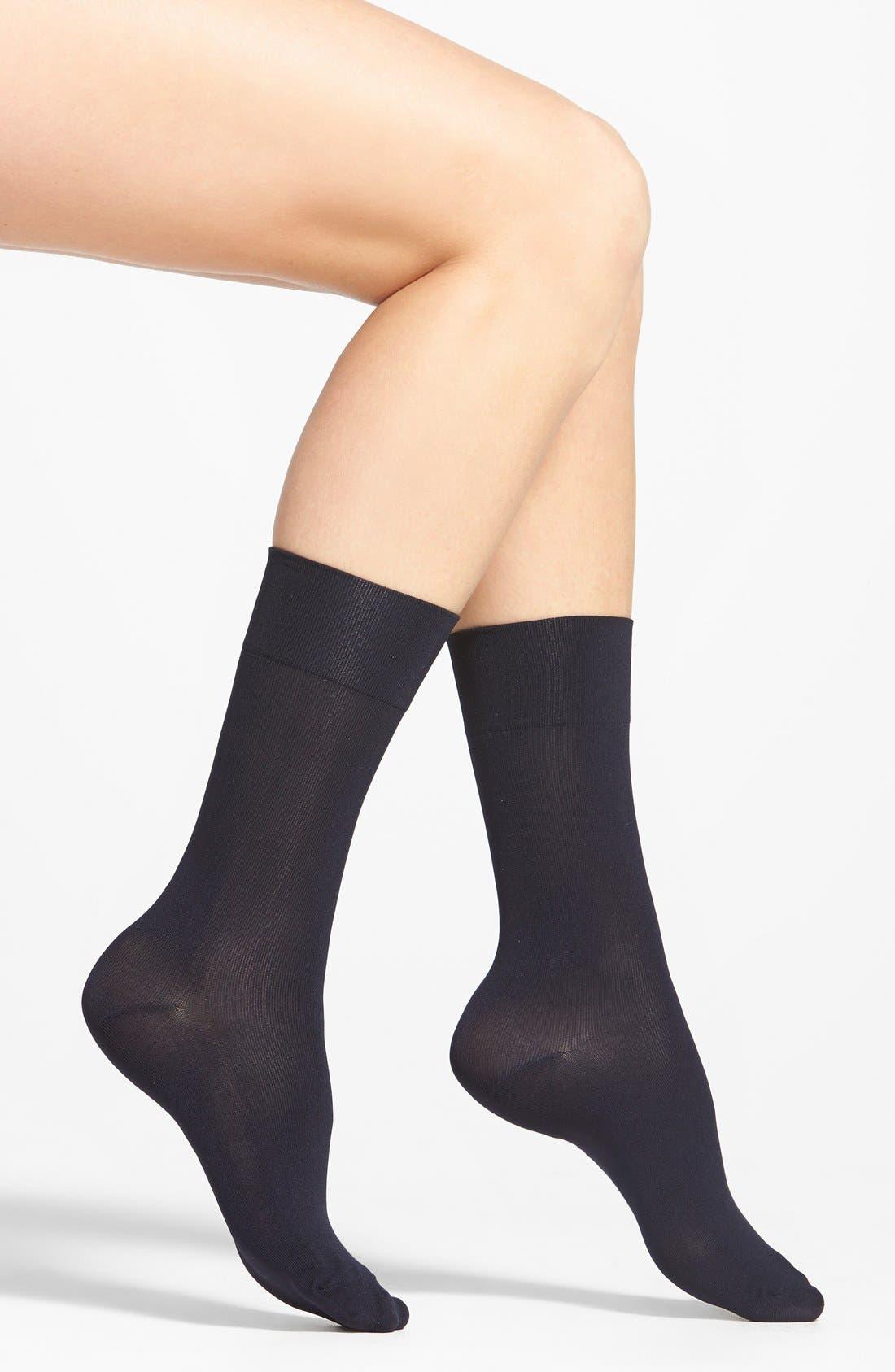 Ultrasmooth Socks,                         Main,                         color, Navy