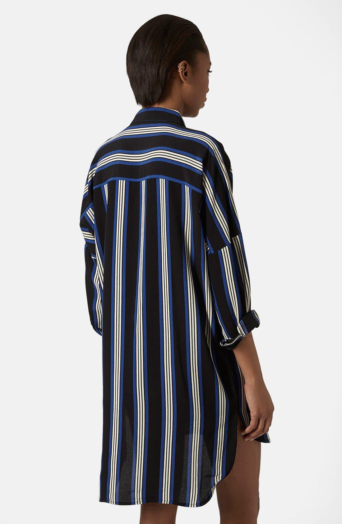 Alternate Image 2  - Topshop 'Granddad' Stripe Shirtdress
