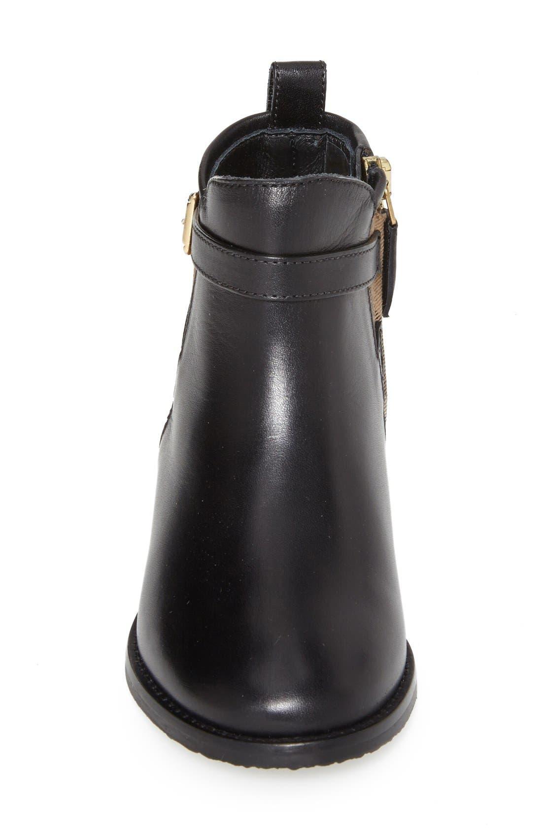 'Mini Richardson' Leather Boot,                             Alternate thumbnail 3, color,                             Black Leather