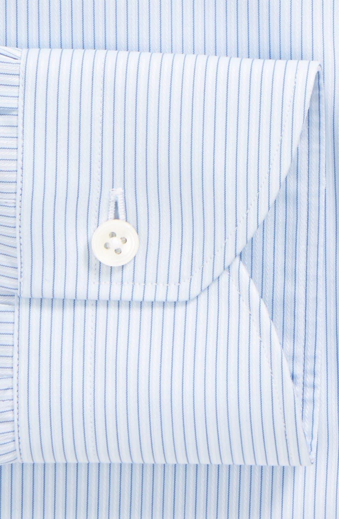Alternate Image 2  - Canali Regular Fit Stripe Dress Shirt