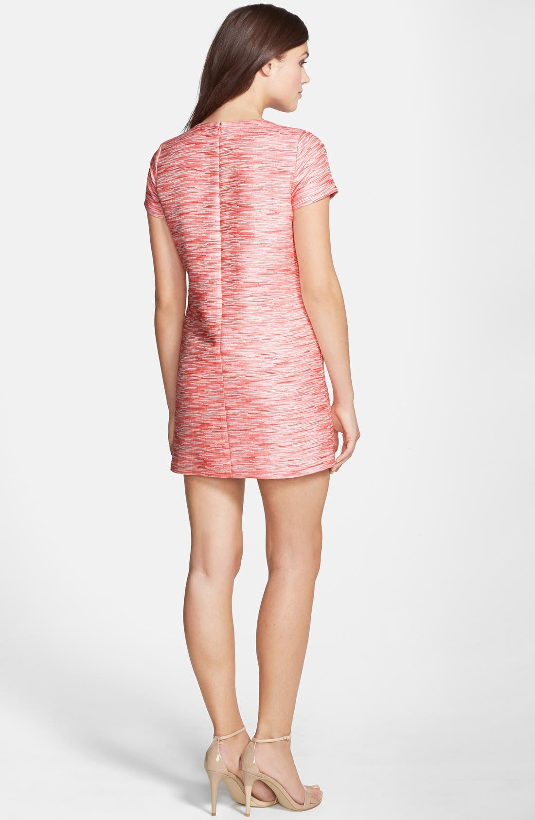 by Cynthia Steffe Jacquard Shift Minidress,                             Alternate thumbnail 2, color,                             Pink Multi