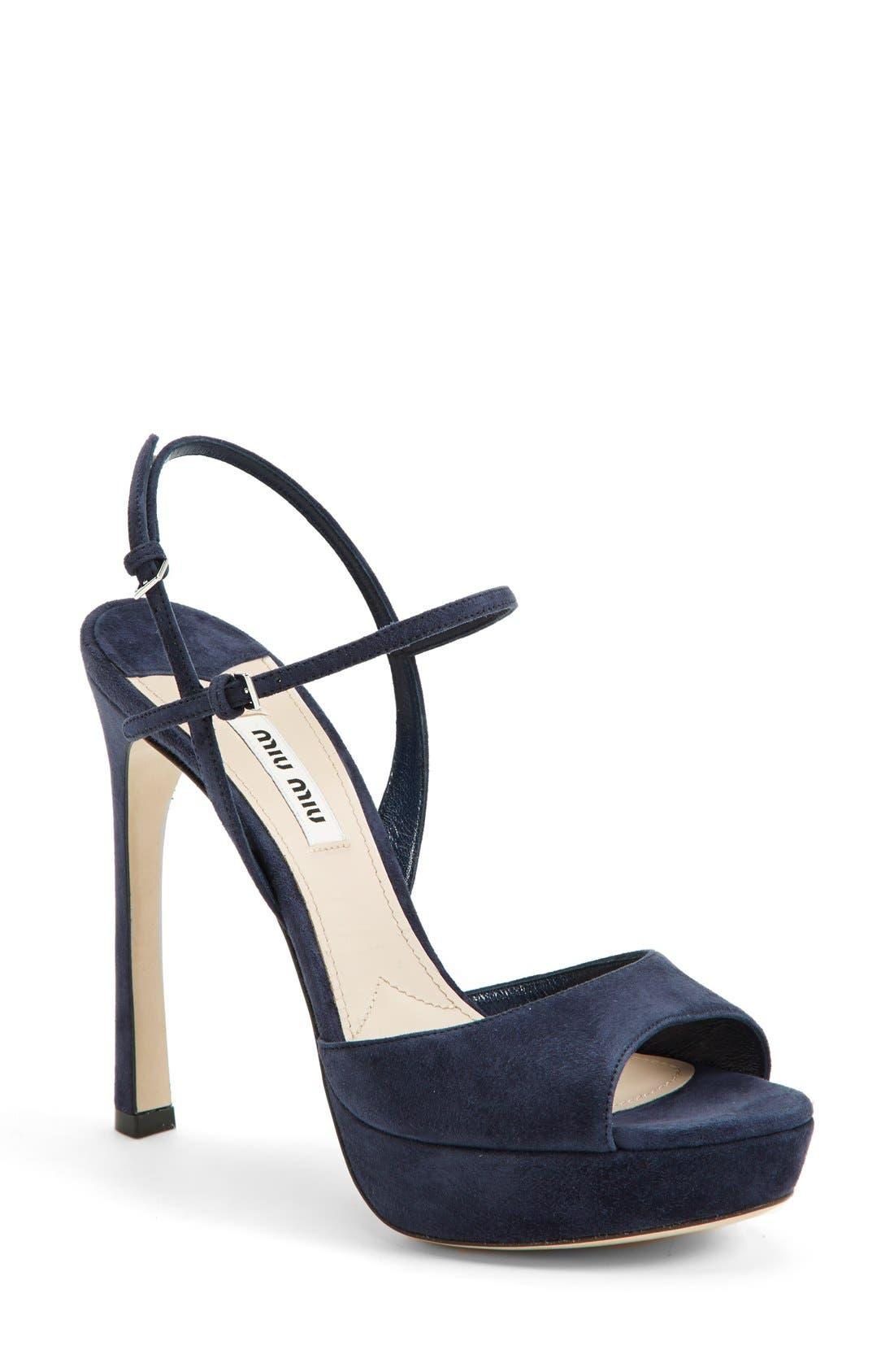 Main Image - Miu Miu Platform Sandal (Women)
