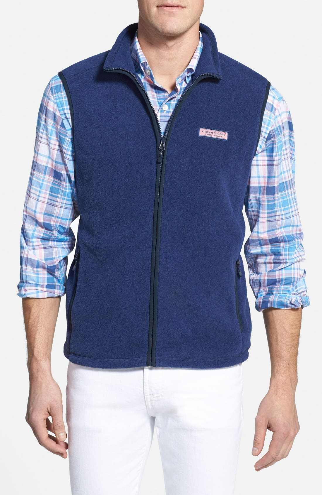 Fleece Vest,                         Main,                         color, Midnight