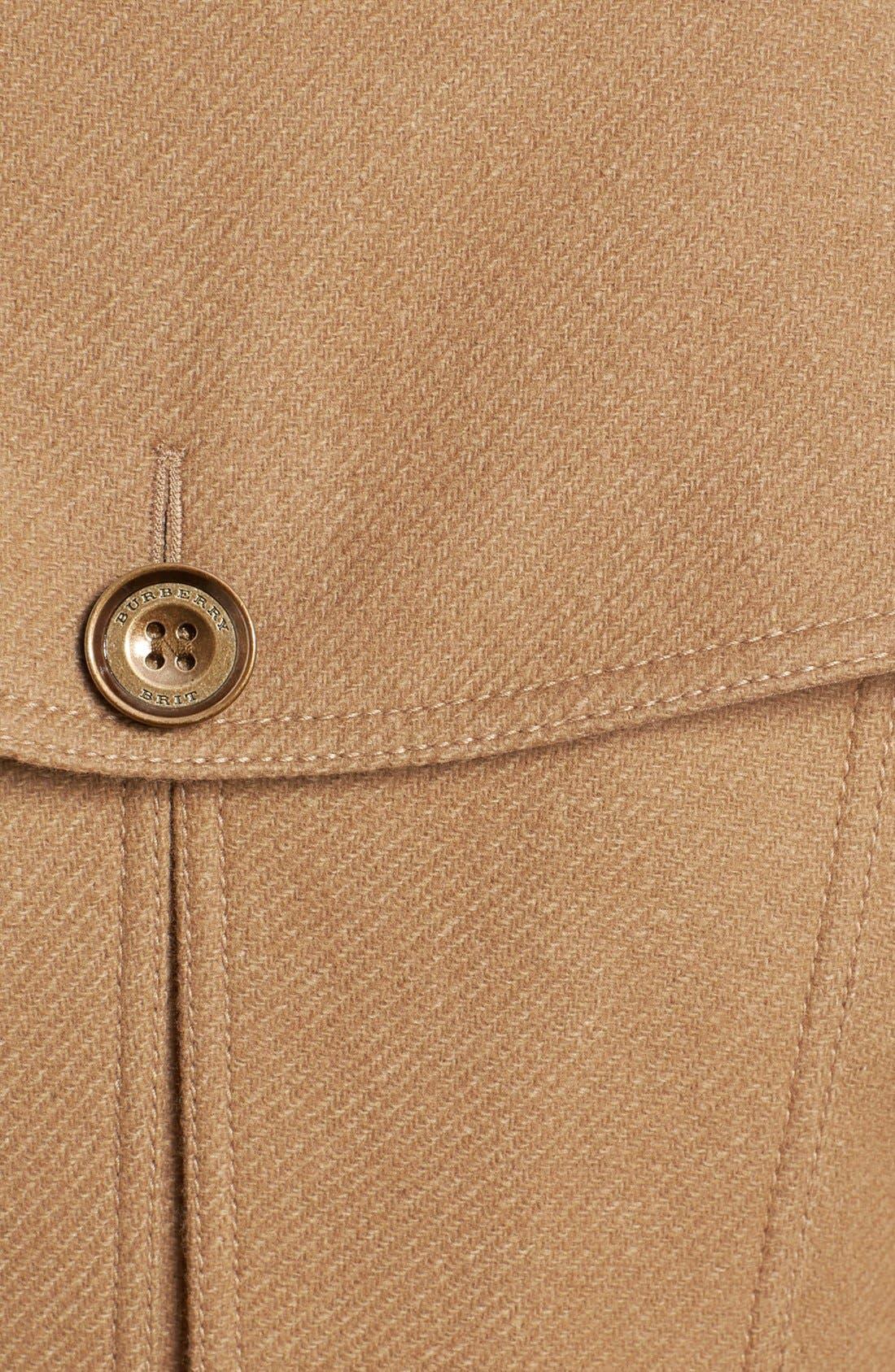 Alternate Image 3  - Burberry Brit 'Daylesmoore' Wool Blend Trench Coat
