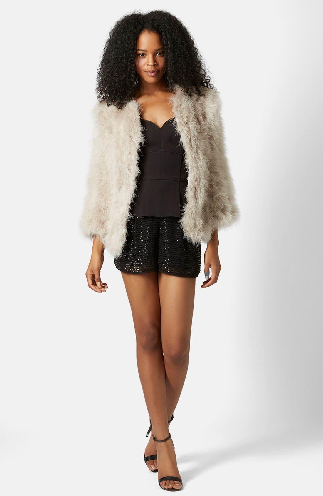 Alternate Image 5  - Topshop 'Vanessa' Boxy Marabou Coat