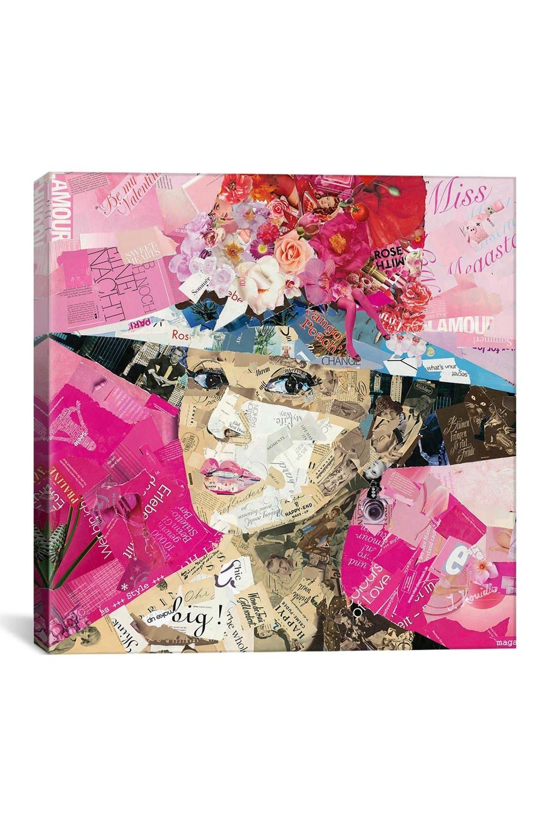 'Girl Next Door - Ines Kouidis' Giclée Print Canvas Art,                             Main thumbnail 1, color,                             Pink/ Multi