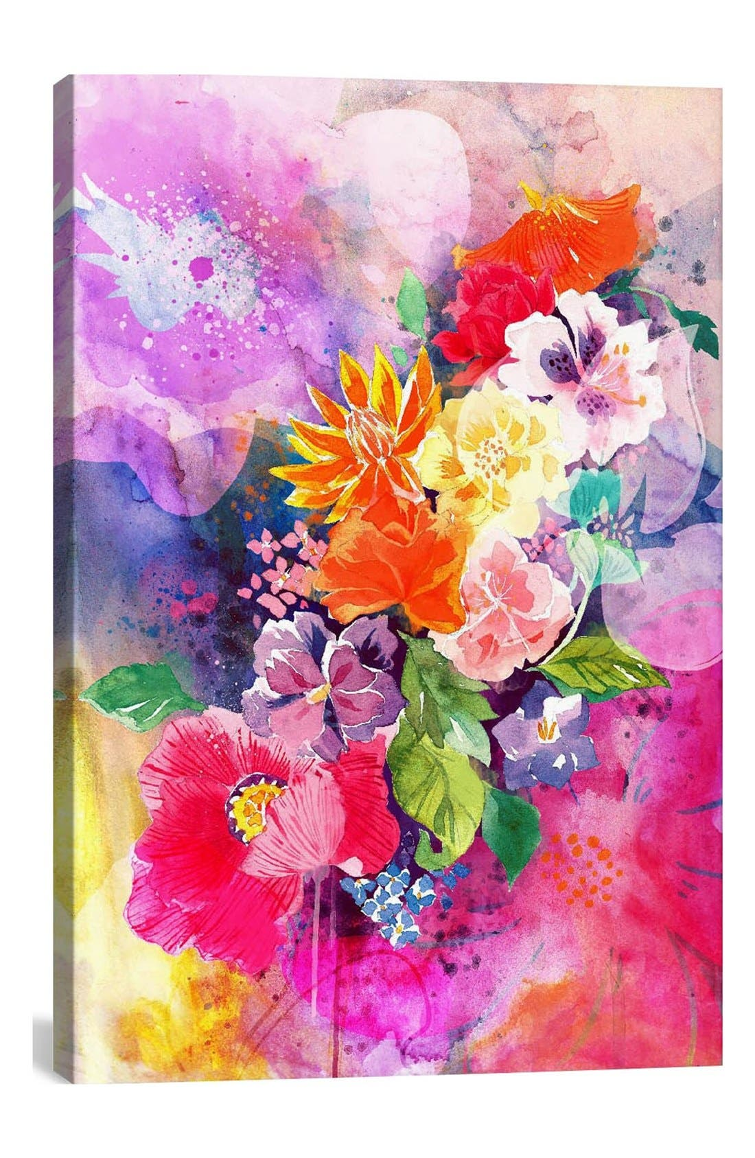 'Spring Flowers - DarkLord' Giclée Print Canvas Art,                         Main,                         color, Pink/ Multi