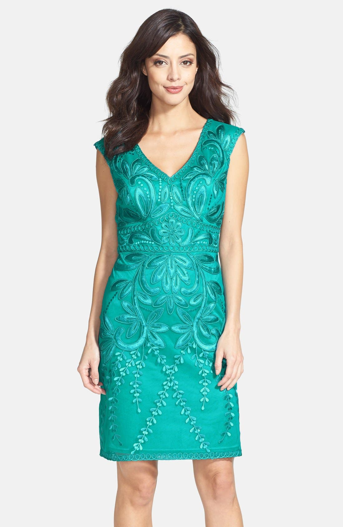 Main Image - Sue Wong Embroidered Sheath Dress