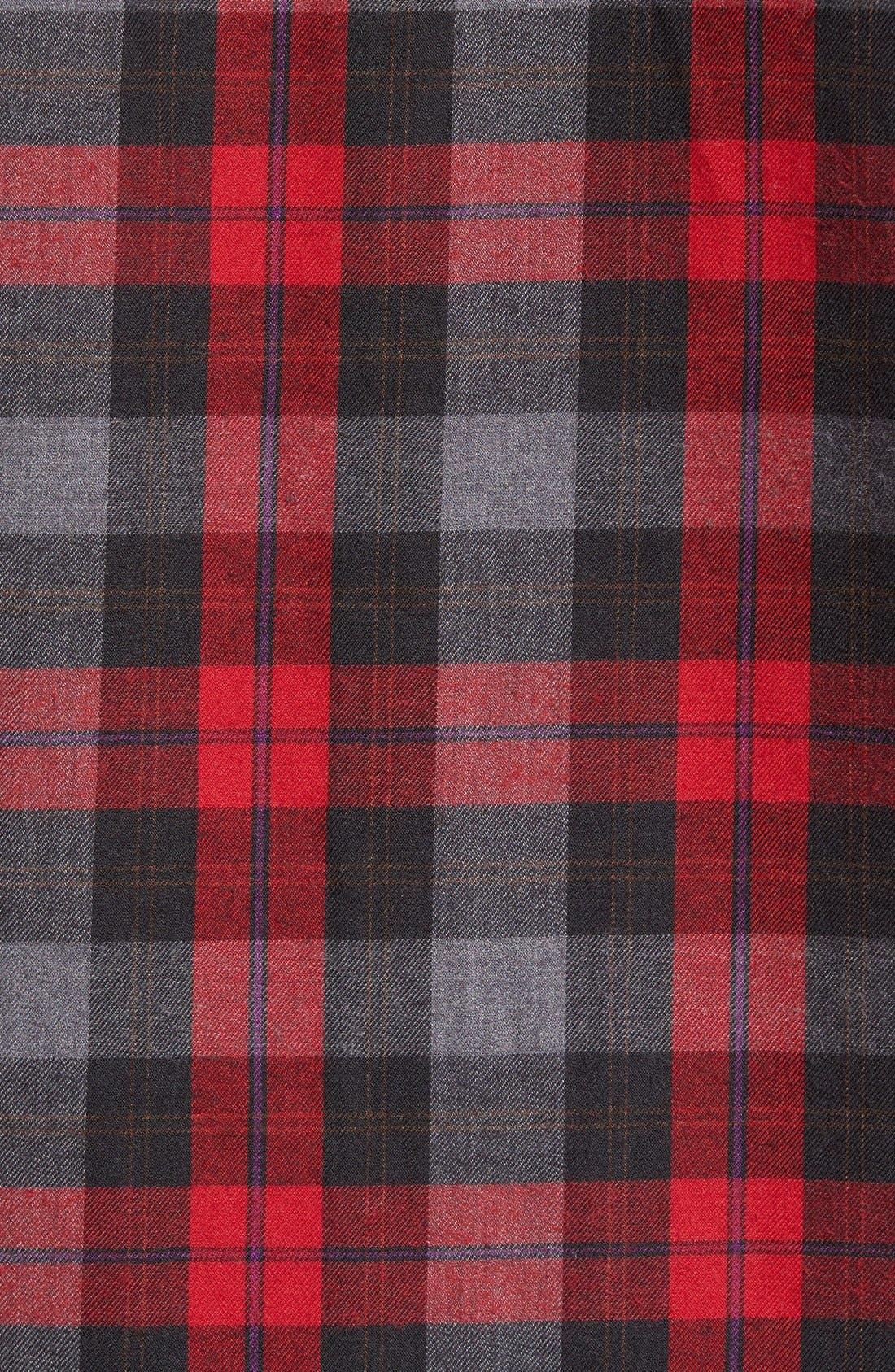 Burner Regular Fit Plaid Flannel Shirt,                             Alternate thumbnail 5, color,                             Fiery Red