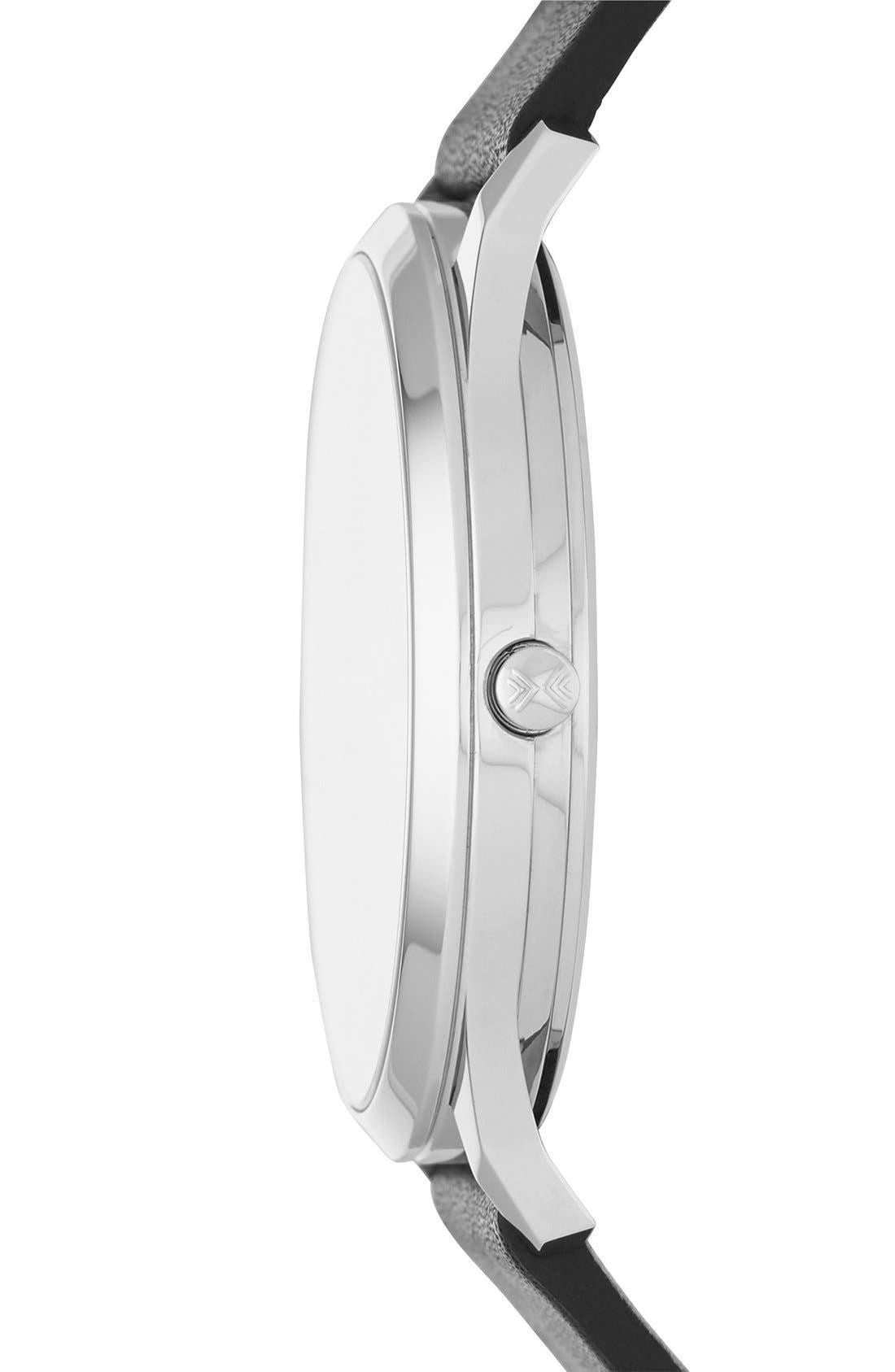 Alternate Image 2  - Skagen Jorn Leather Strap Watch, 41mm