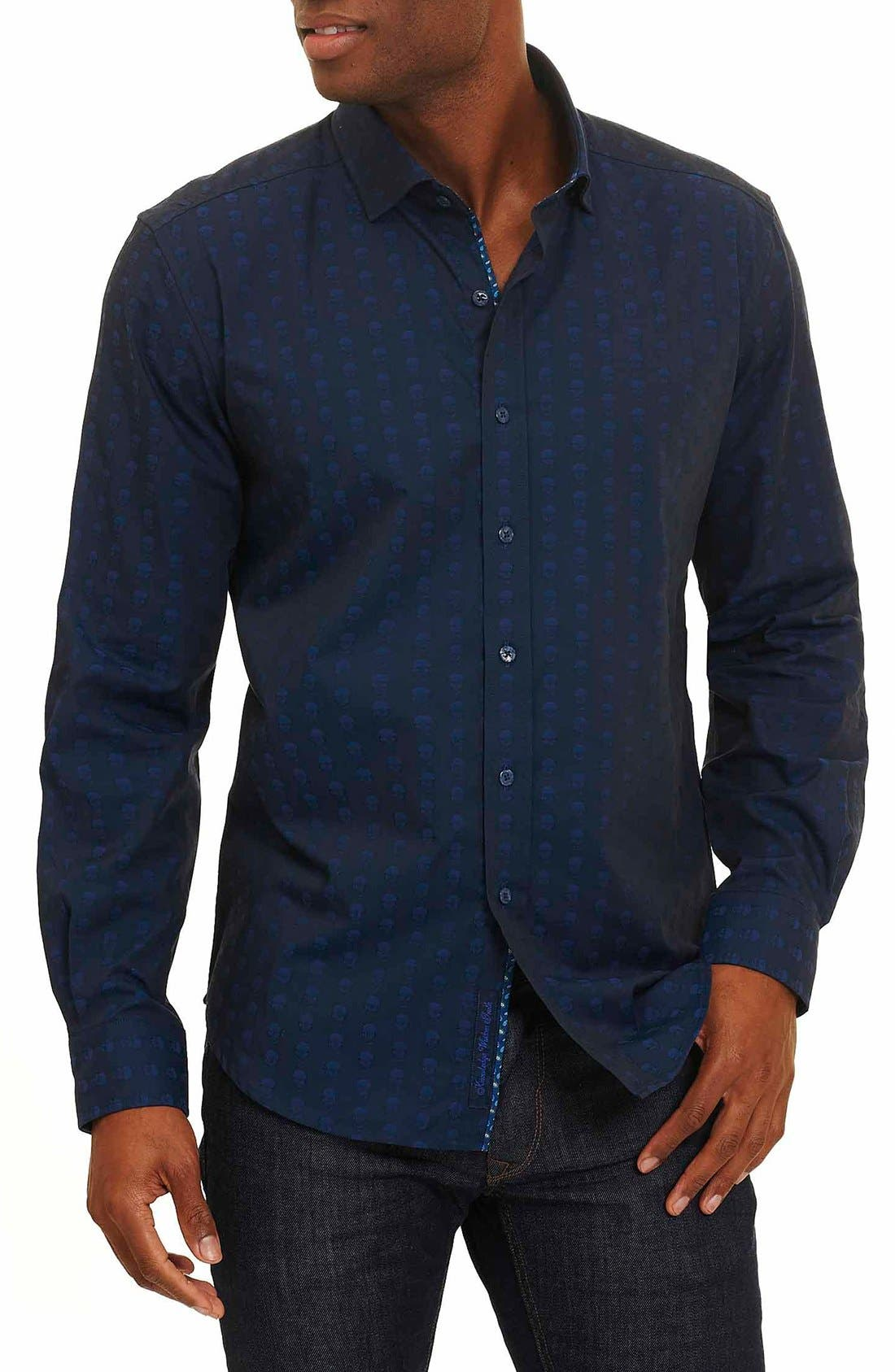 Alternate Image 1 Selected - Robert Graham Deven Tailored Fit Sport Shirt