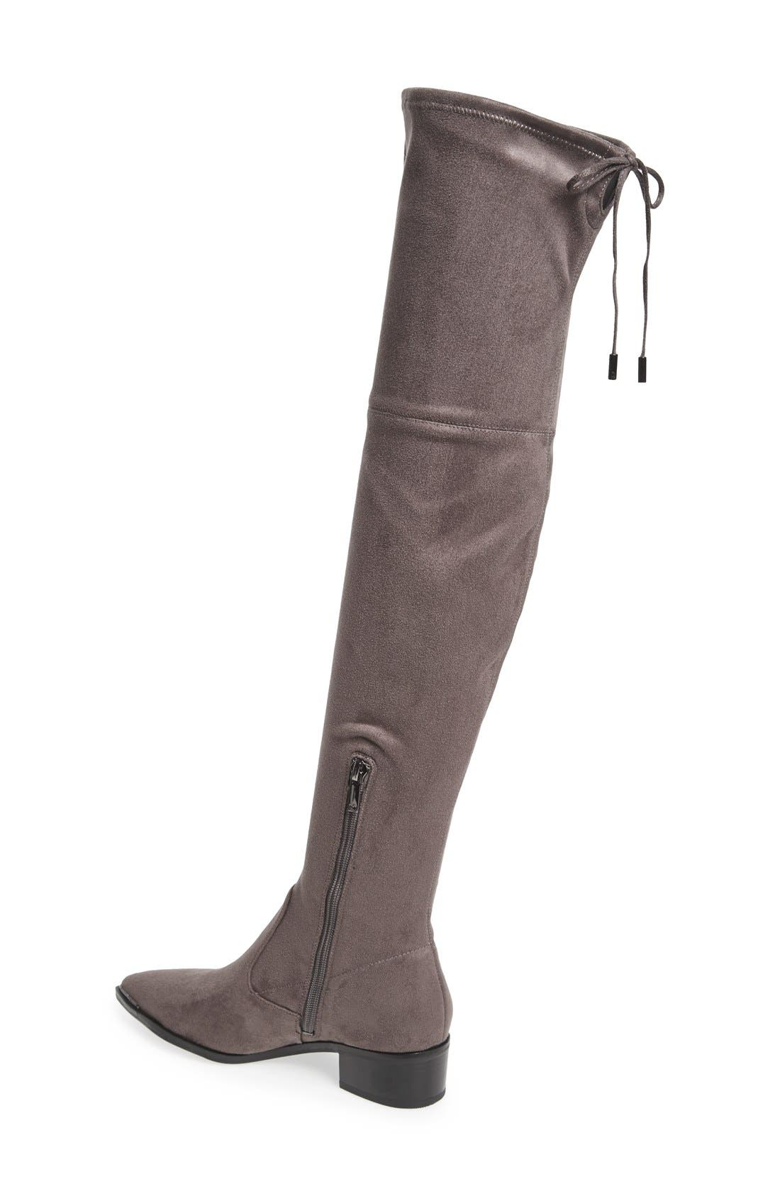 Yenna Over the Knee Boot,                             Alternate thumbnail 2, color,                             Grey Stretch Fabric