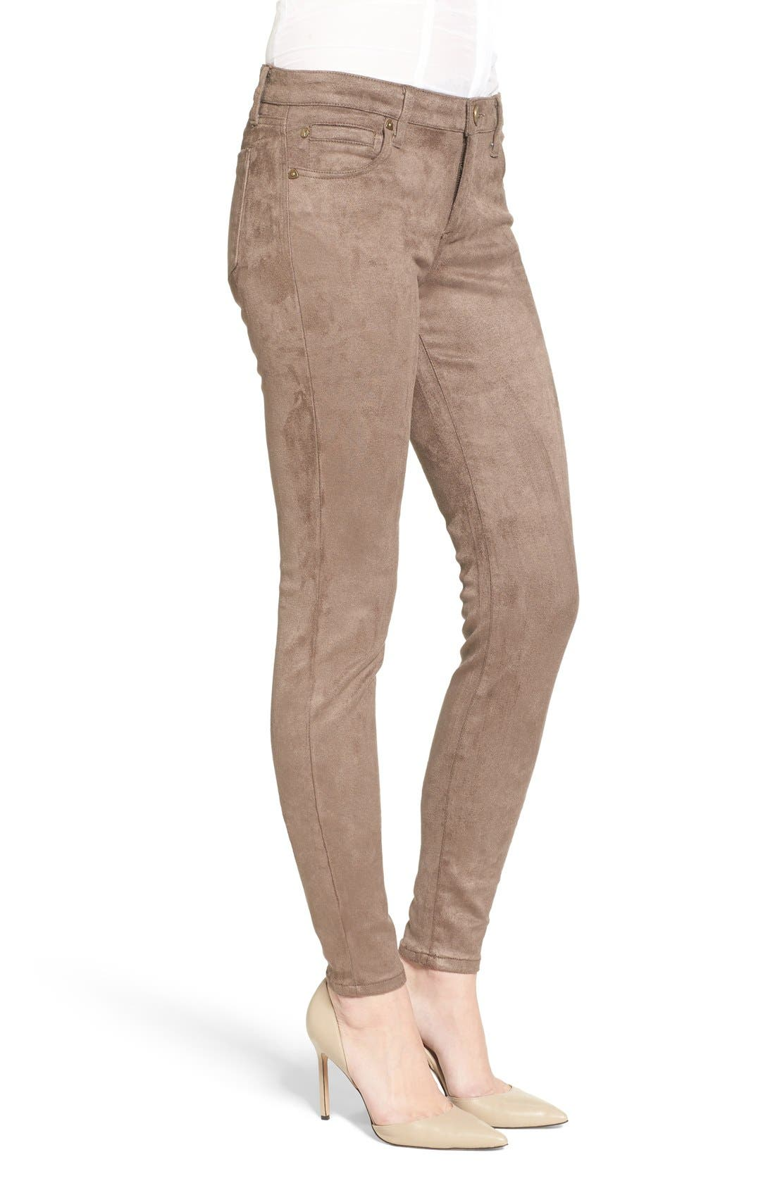Alternate Image 3  - KUT from the Kloth Mia Faux Suede Skinny Jeans