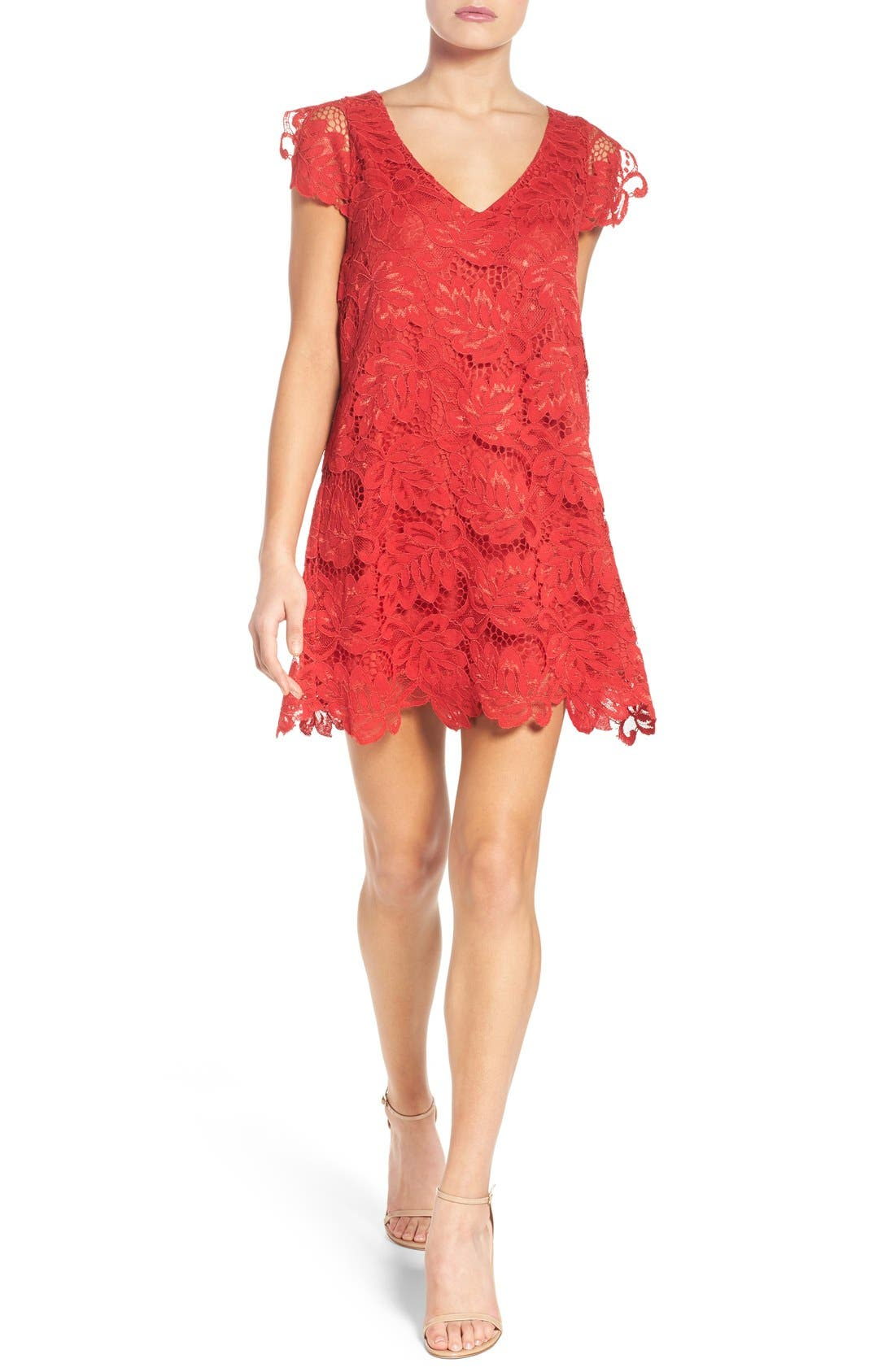 Alternate Image 4  - BB Dakota 'Jacqueline' Lace Shift Dress