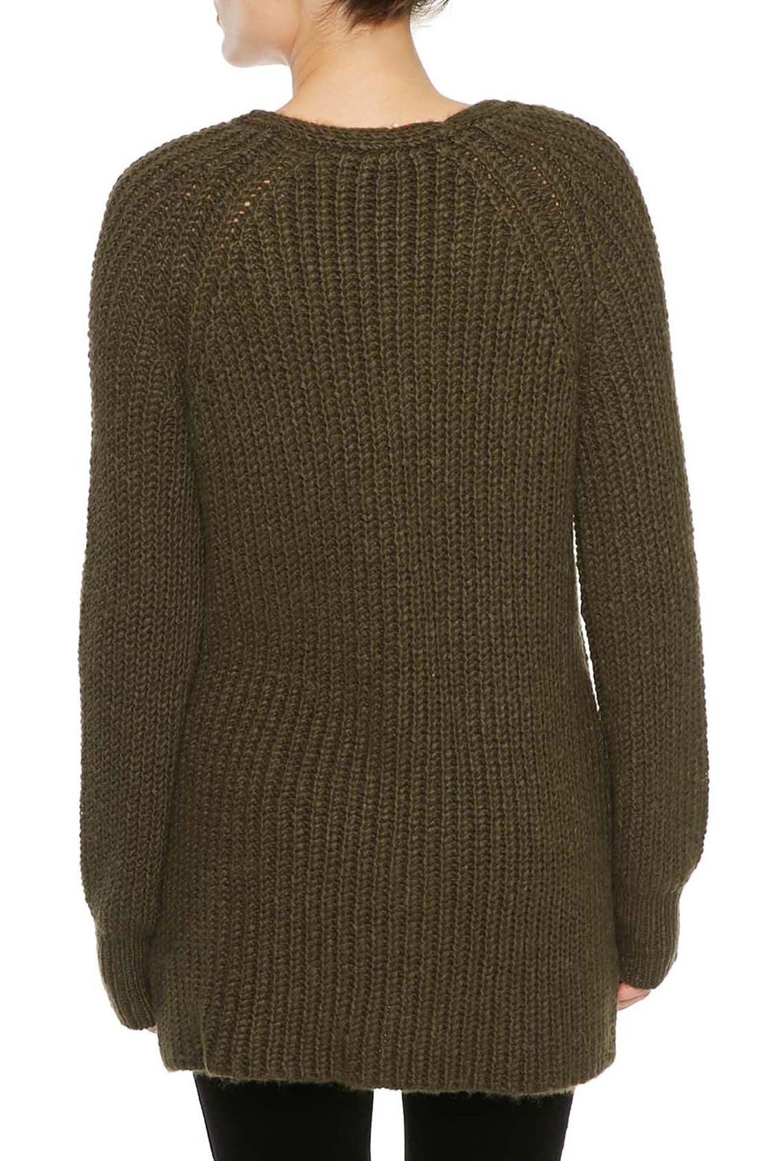 Sequoia V-Neck Sweater,                             Alternate thumbnail 2, color,                             Marled Fatigue