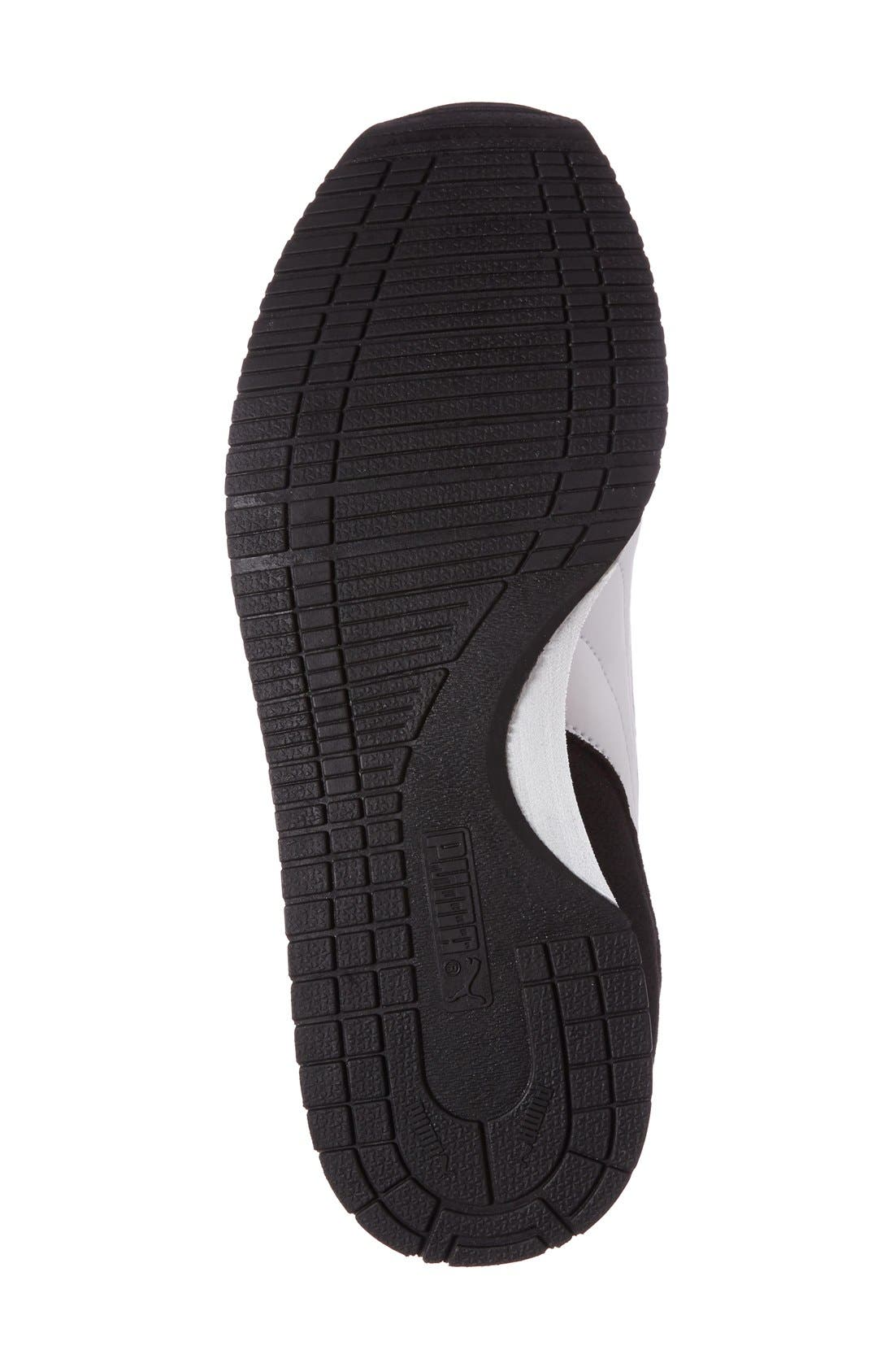 Cabana Racer Sneaker,                             Alternate thumbnail 4, color,                             Puma Black-Puma White