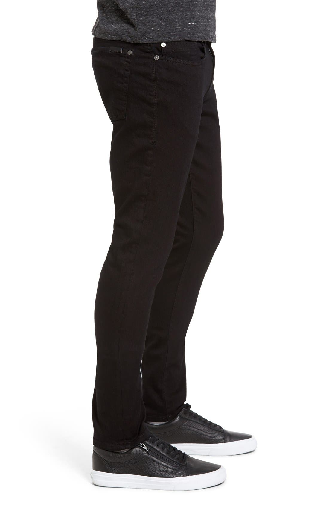 Alternate Image 3  - Fidelity Denim Vantage Skinny Fit Jeans (Ever Black)