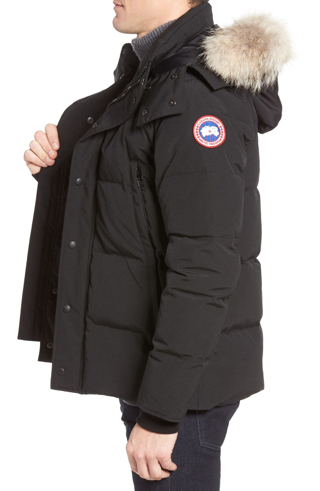 Alternate Image 3  - Canada Goose Wyndham Slim Fit Genuine Coyote Fur Trim Down Jacket