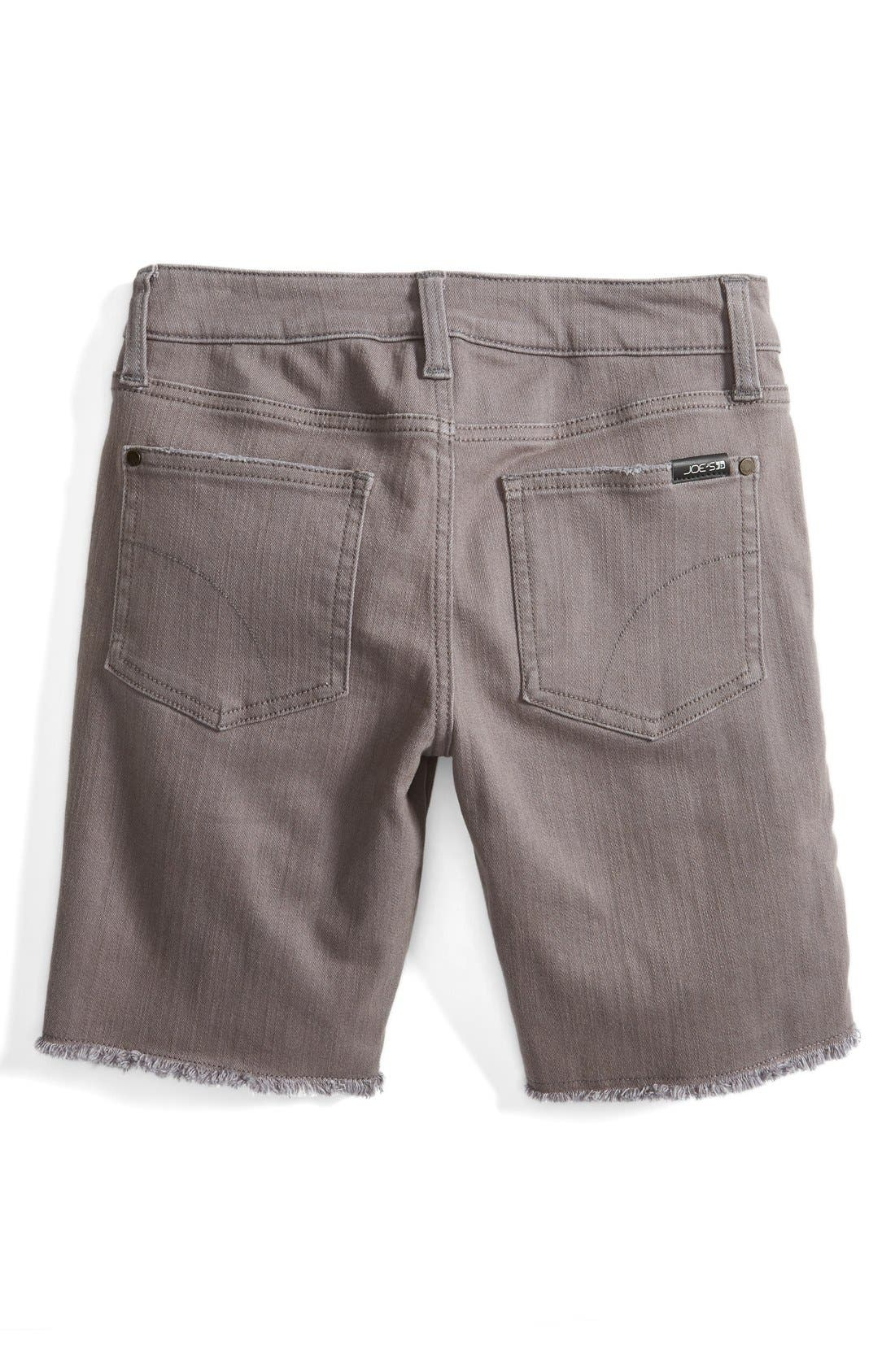 Frayed Hem Bermuda Shorts,                             Alternate thumbnail 2, color,                             Dark Grey