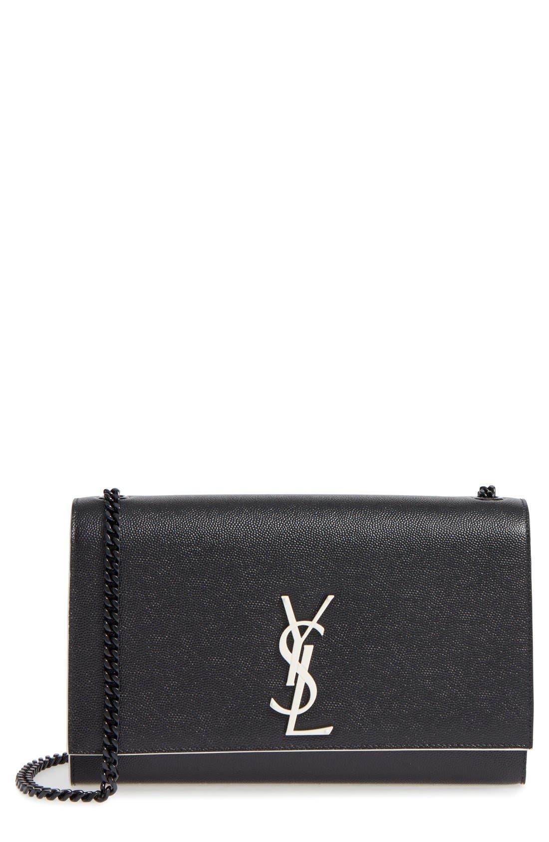 Alternate Image 1 Selected - Saint Laurent Medium Kate Grainy Leather Shoulder Bag