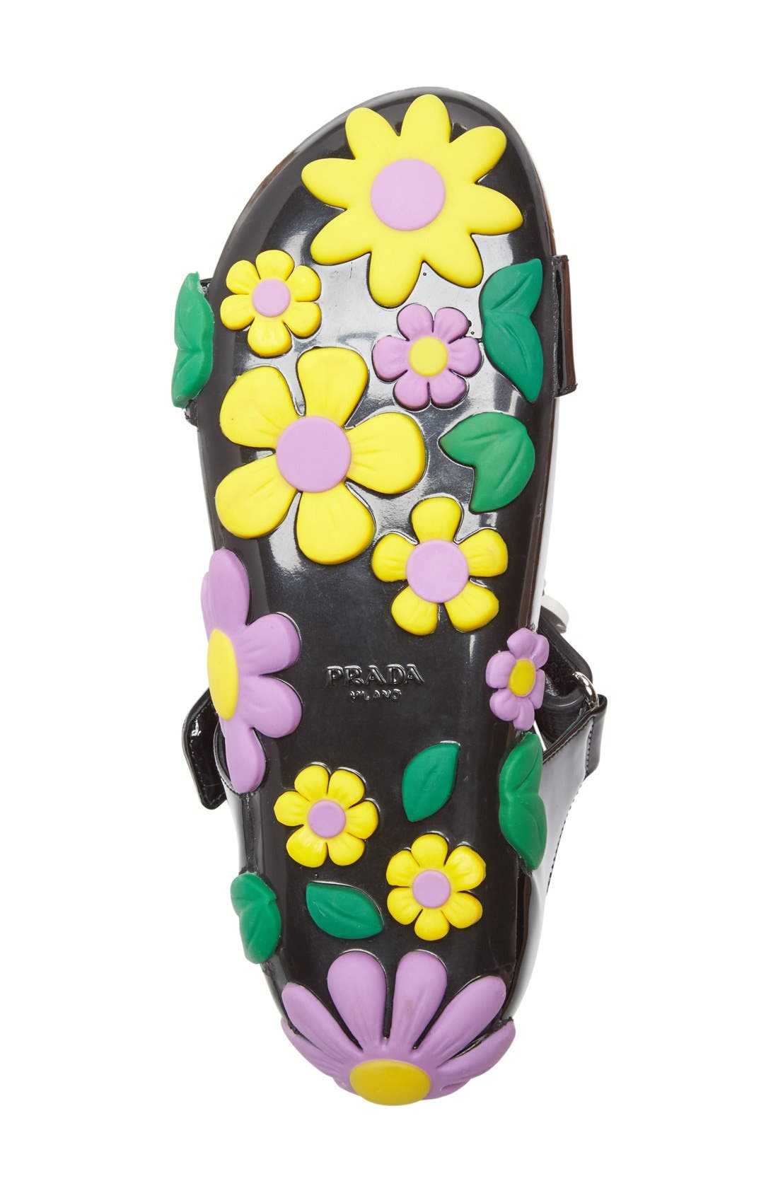 Alternate Image 3  - Prada Floral Triple Band Sandal (Women)