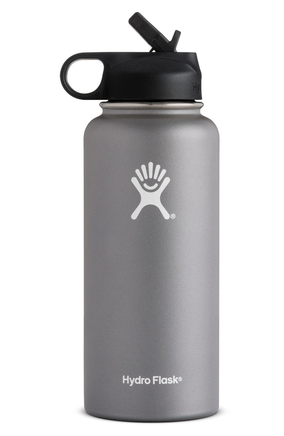 Hydro Flask 32-Ounce Wide Mouth Bottle with Straw Lid