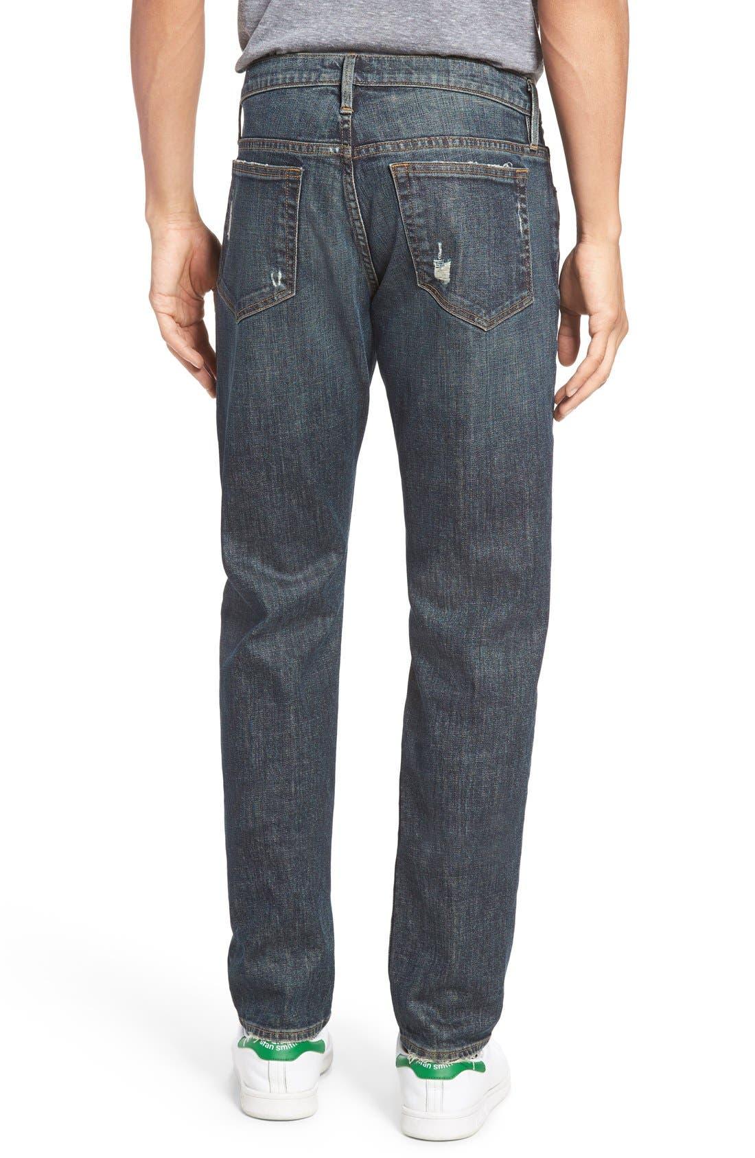 Alternate Image 2  - FRAME L'Homme Slim Fit Jeans (Fort Davis)