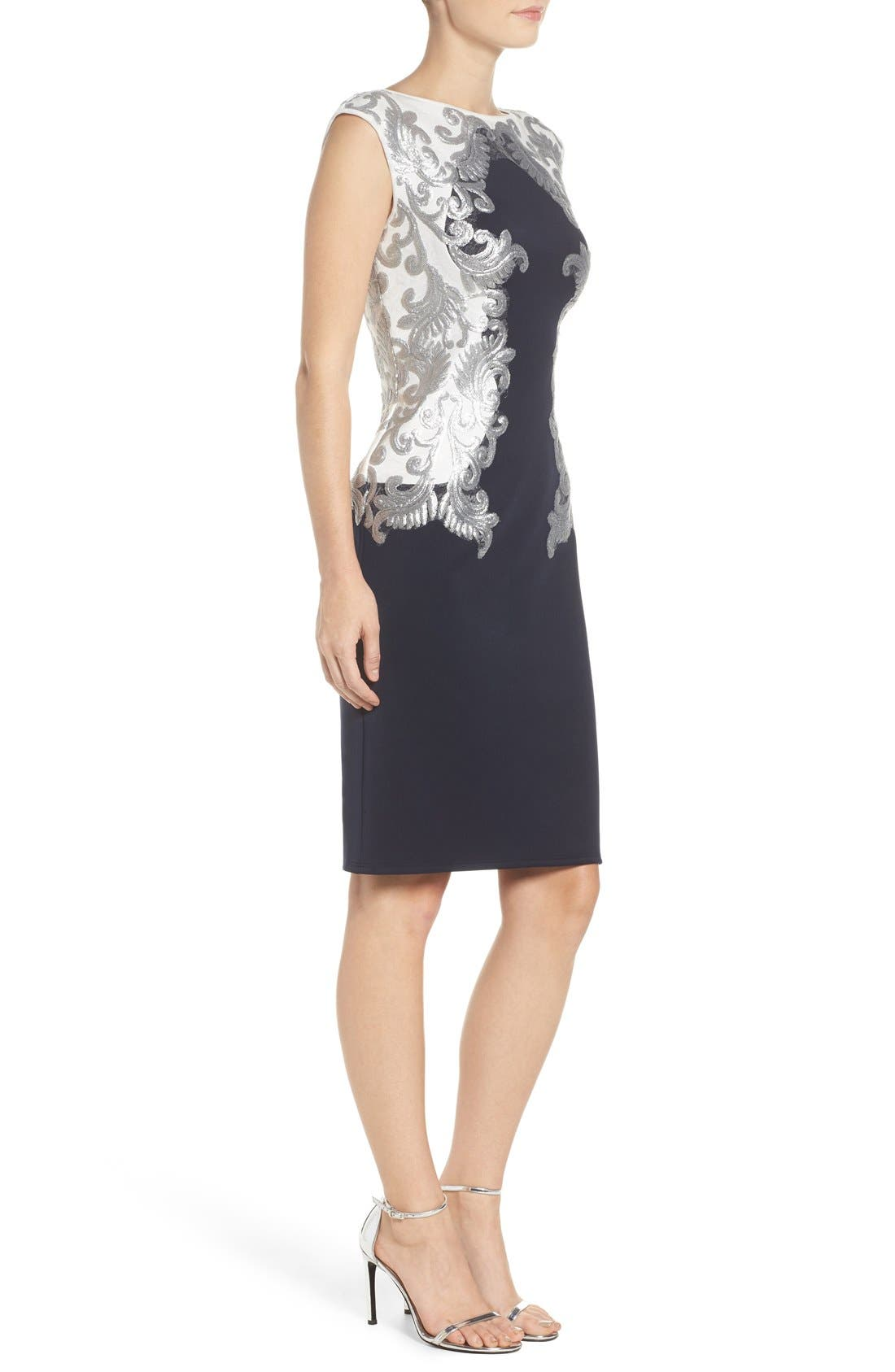 Alternate Image 4  - Tadashi Shoji Sequin Neoprene Dress (Regular & Petite)