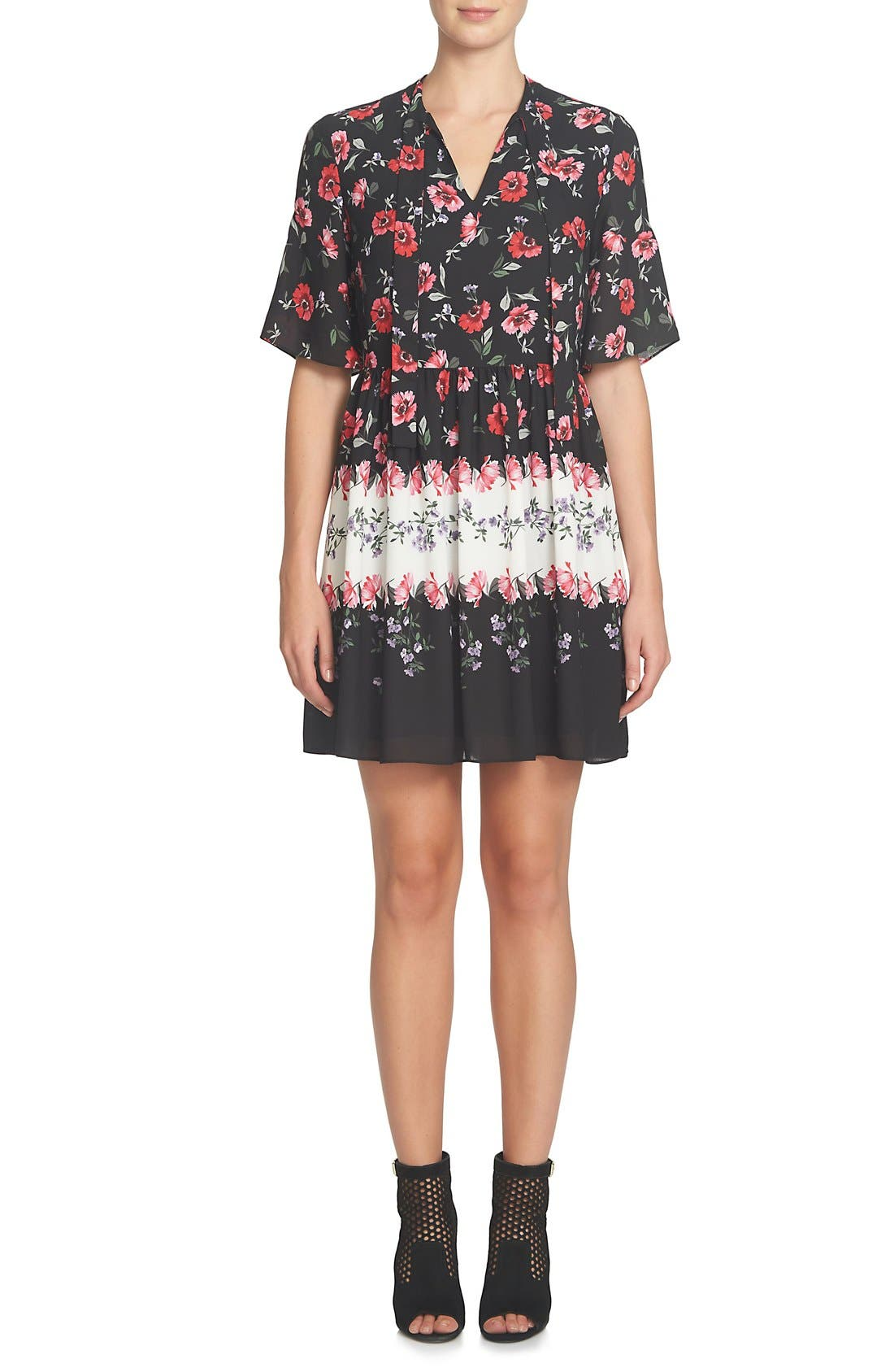 Alternate Image 3  - CeCe Elise Floral Dress (Regular & Petite)