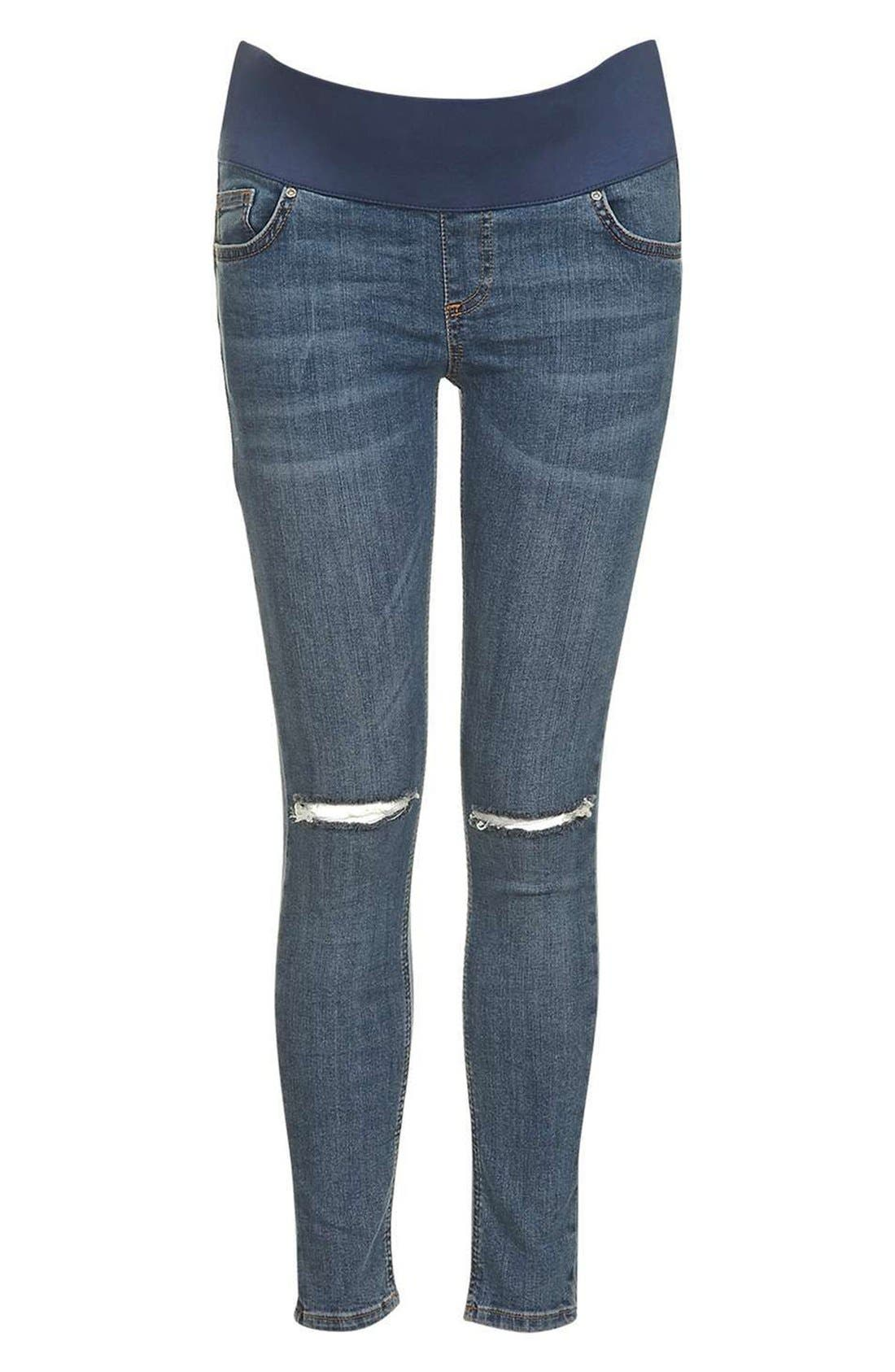 Topshop Moto Jamie Ripped Skinny Maternity Jeans