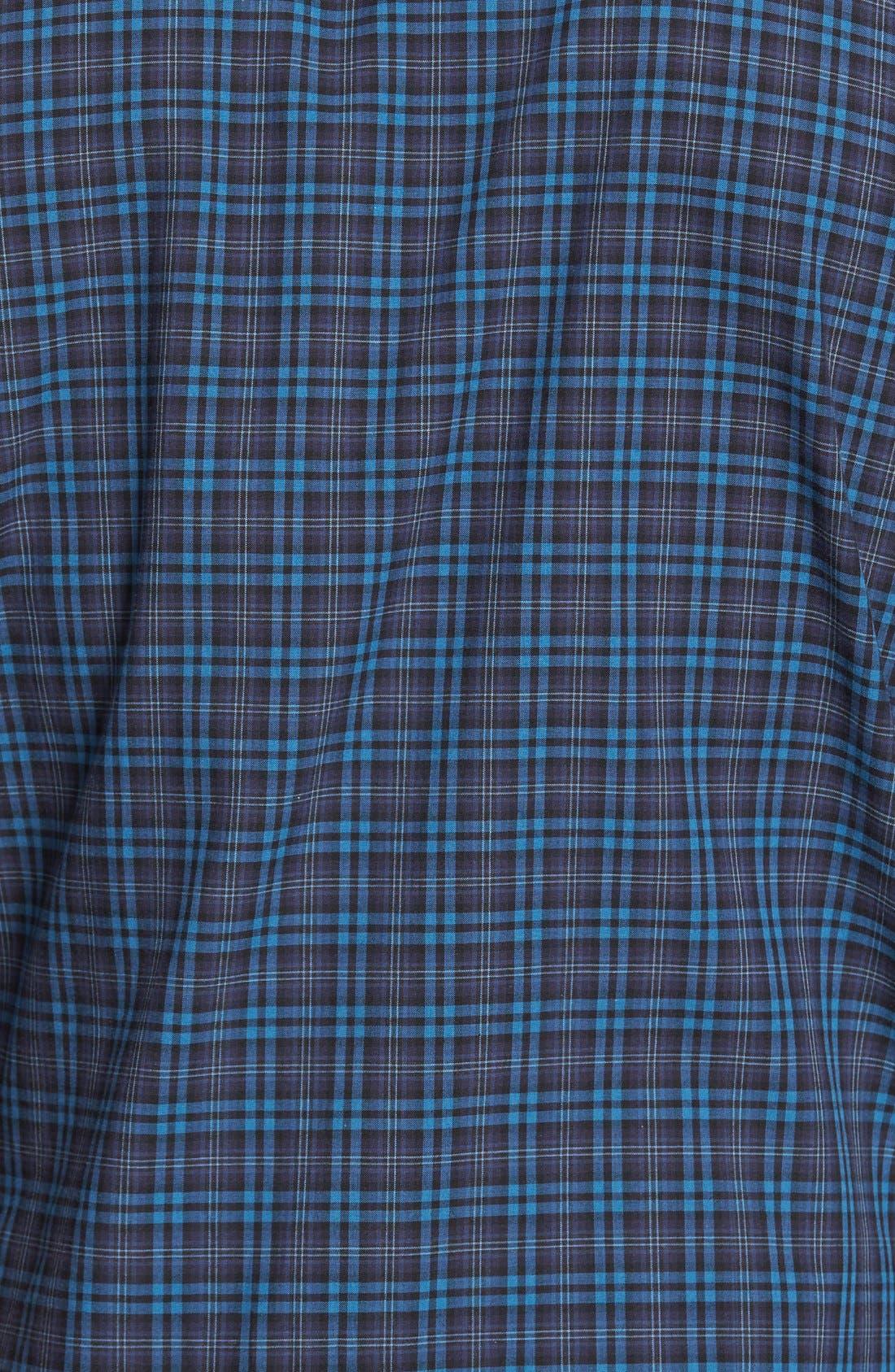 Adler Trim Fit Plaid Sport Shirt,                             Alternate thumbnail 5, color,                             Blue