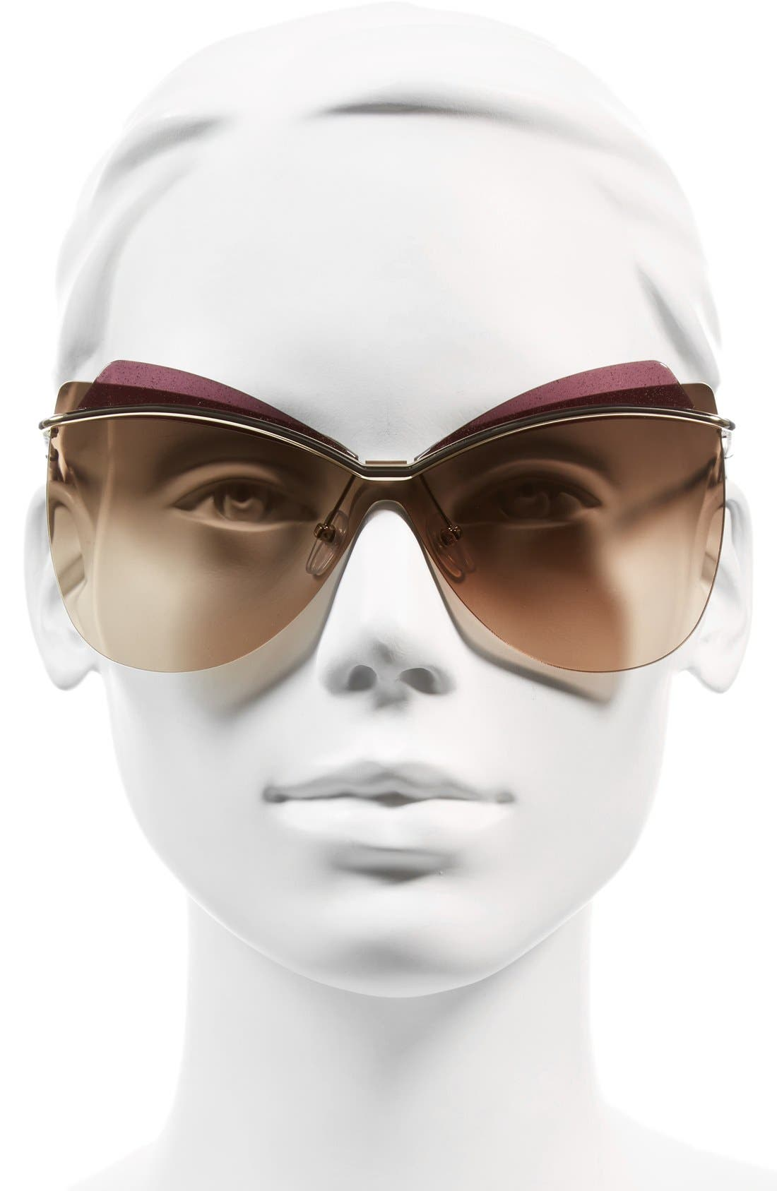 67mm Sunglasses,                             Alternate thumbnail 2, color,                             Light Gold