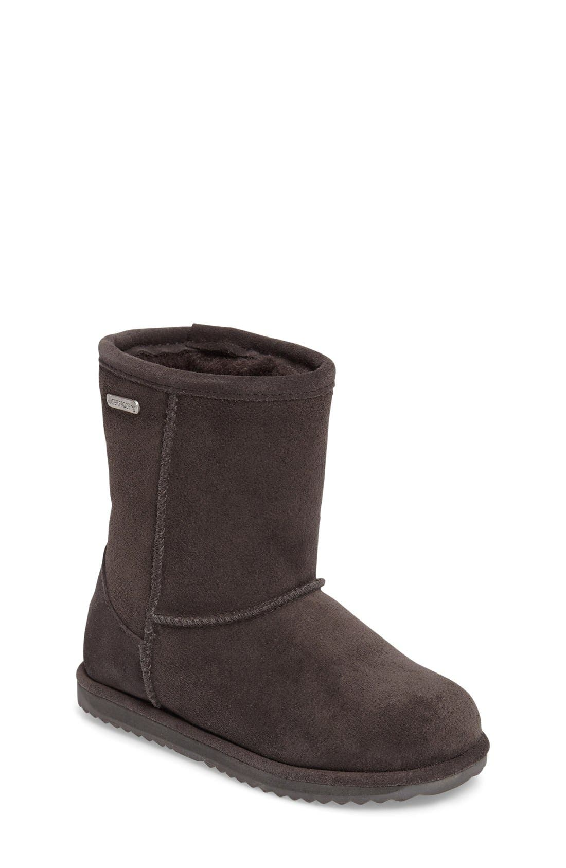 Brumby Waterproof Boot,                         Main,                         color, Charcoal Suede